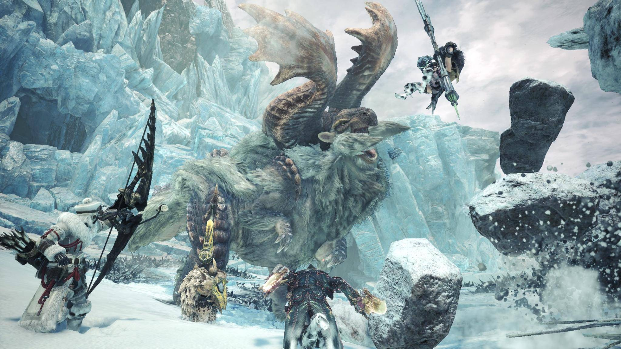 """In """"Monster Hunter World: Iceborne"""" gibt es neue Monster und neue Gebiete zu entdecken."""