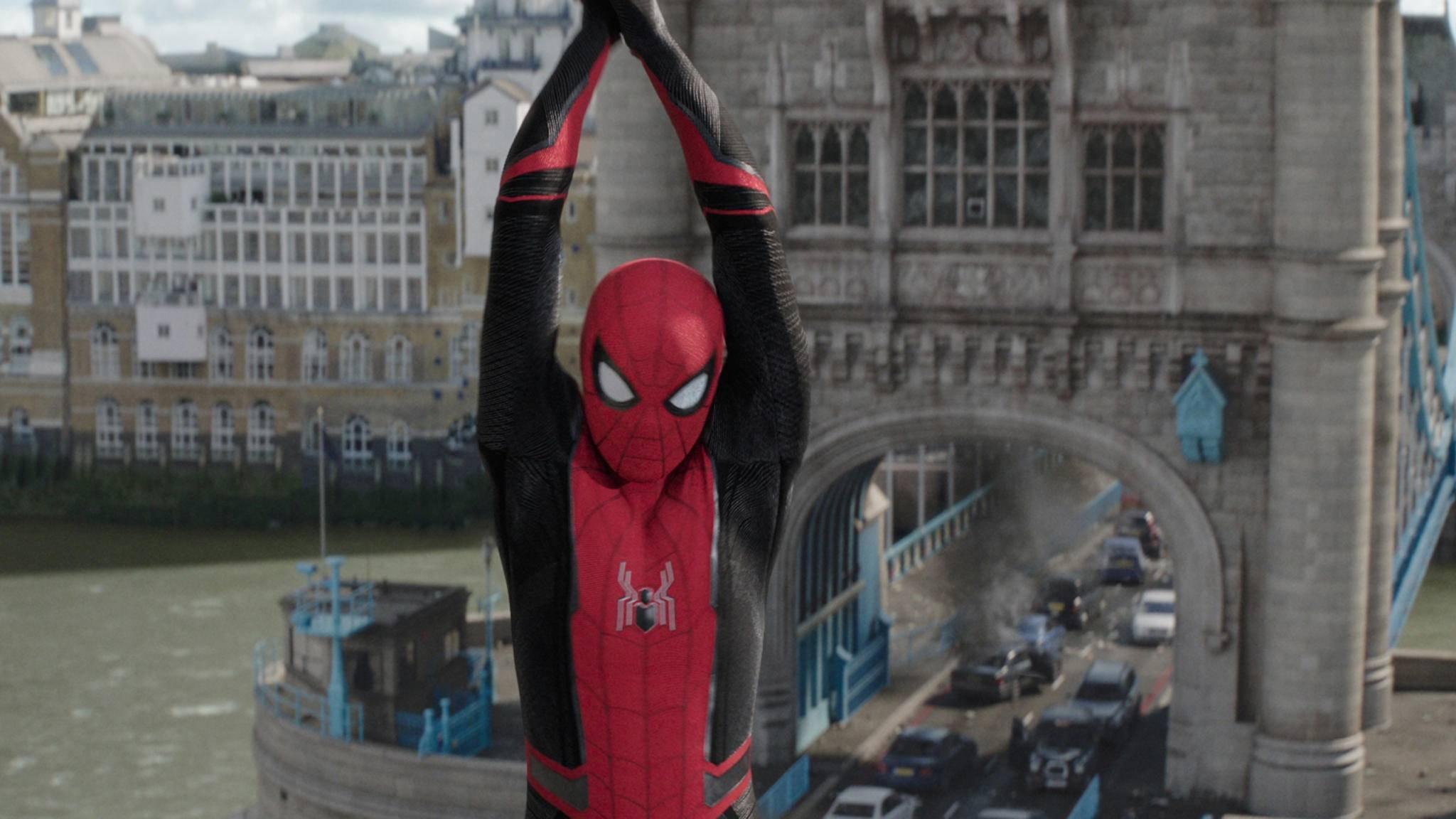 """Tom Holland (hier in """"Spider-Man: Far From Home"""") wirbt fürs Maskentragen."""