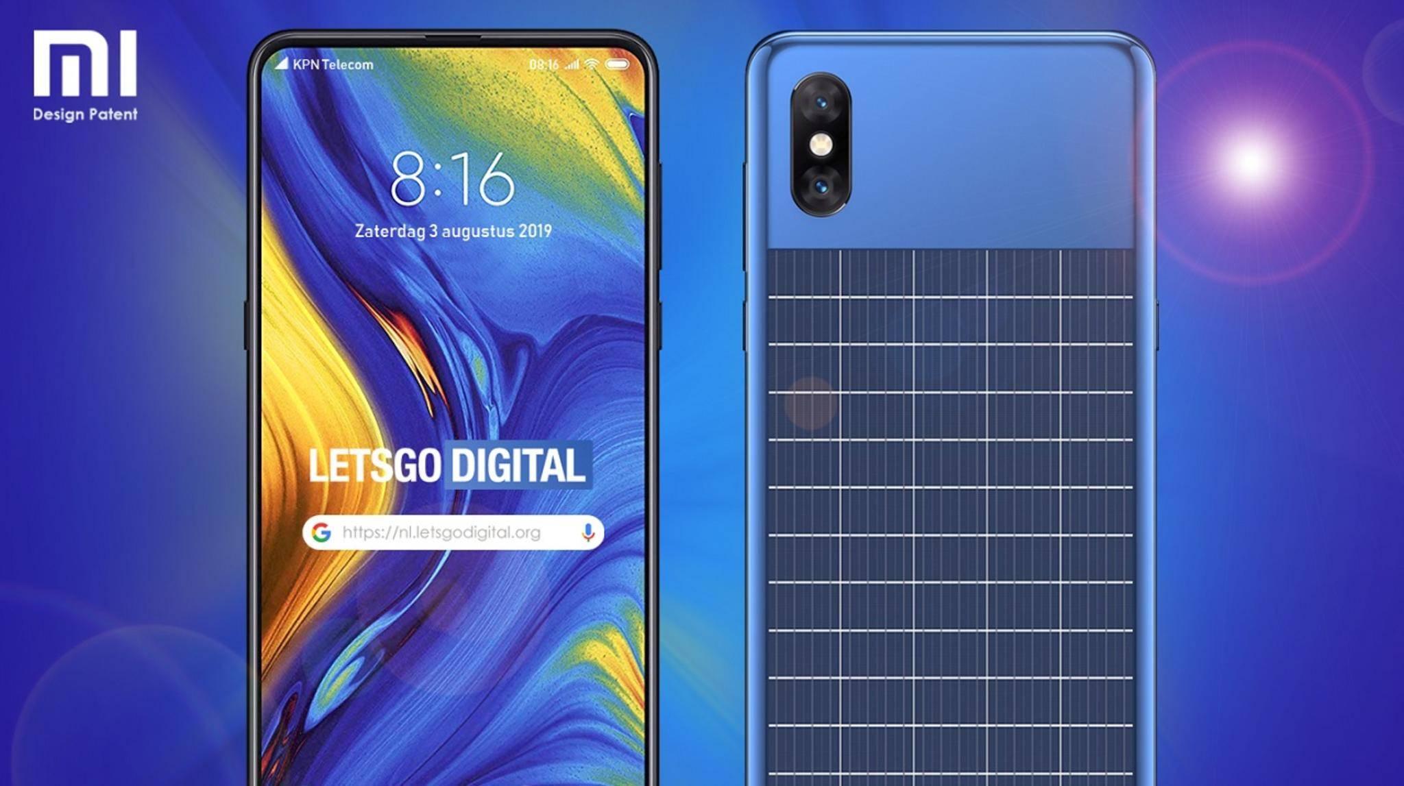 Xiaomi Smartphone mit Solarmodul