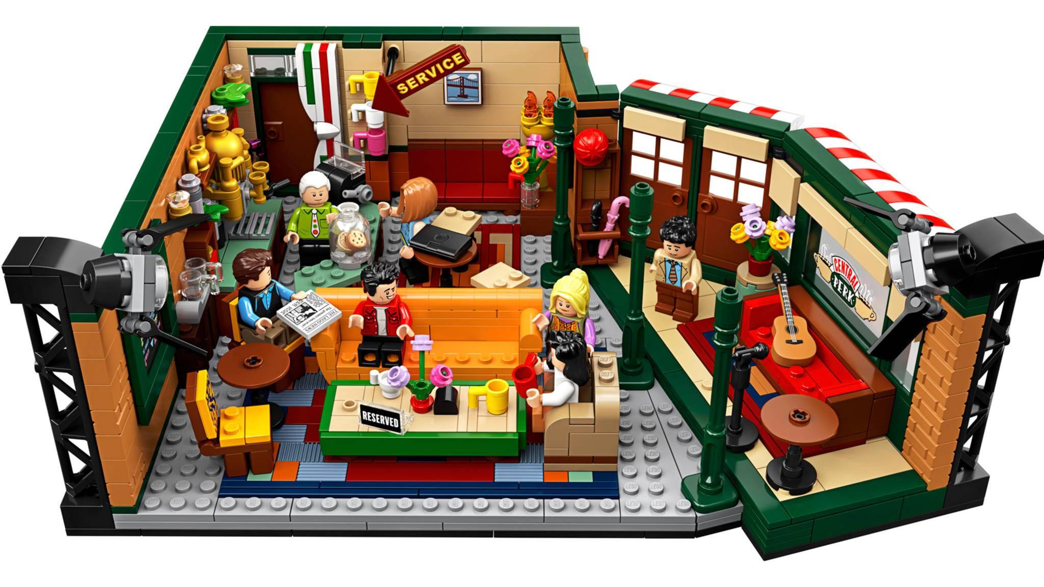 Gesamtansicht des Lego Friends Central Perk Sets