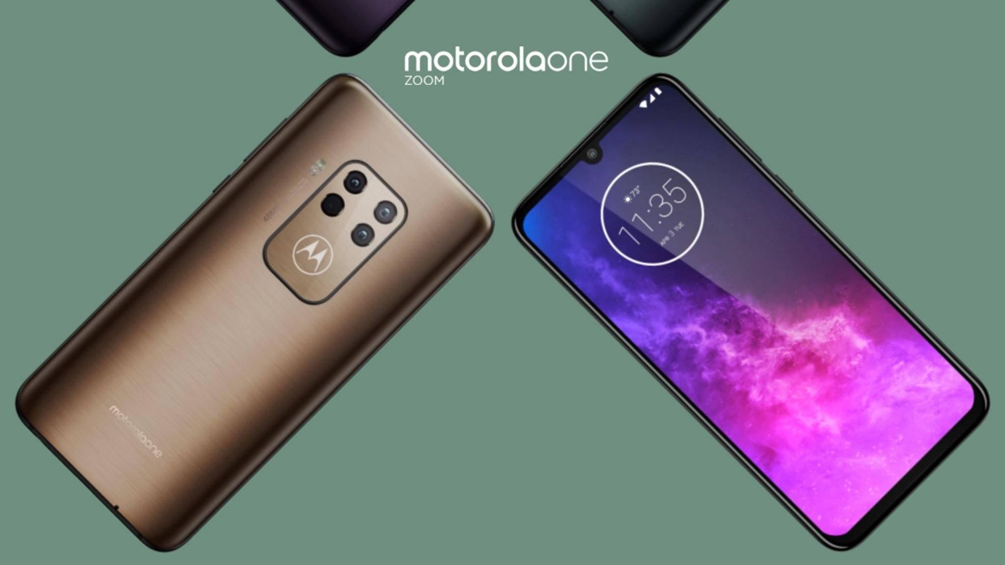 Motorola One Zoom Leak in Gold