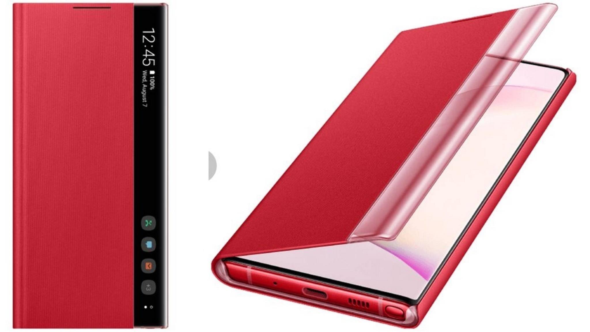 So soll das neue Flip-Cover des Galaxy Note 10 aussehen.