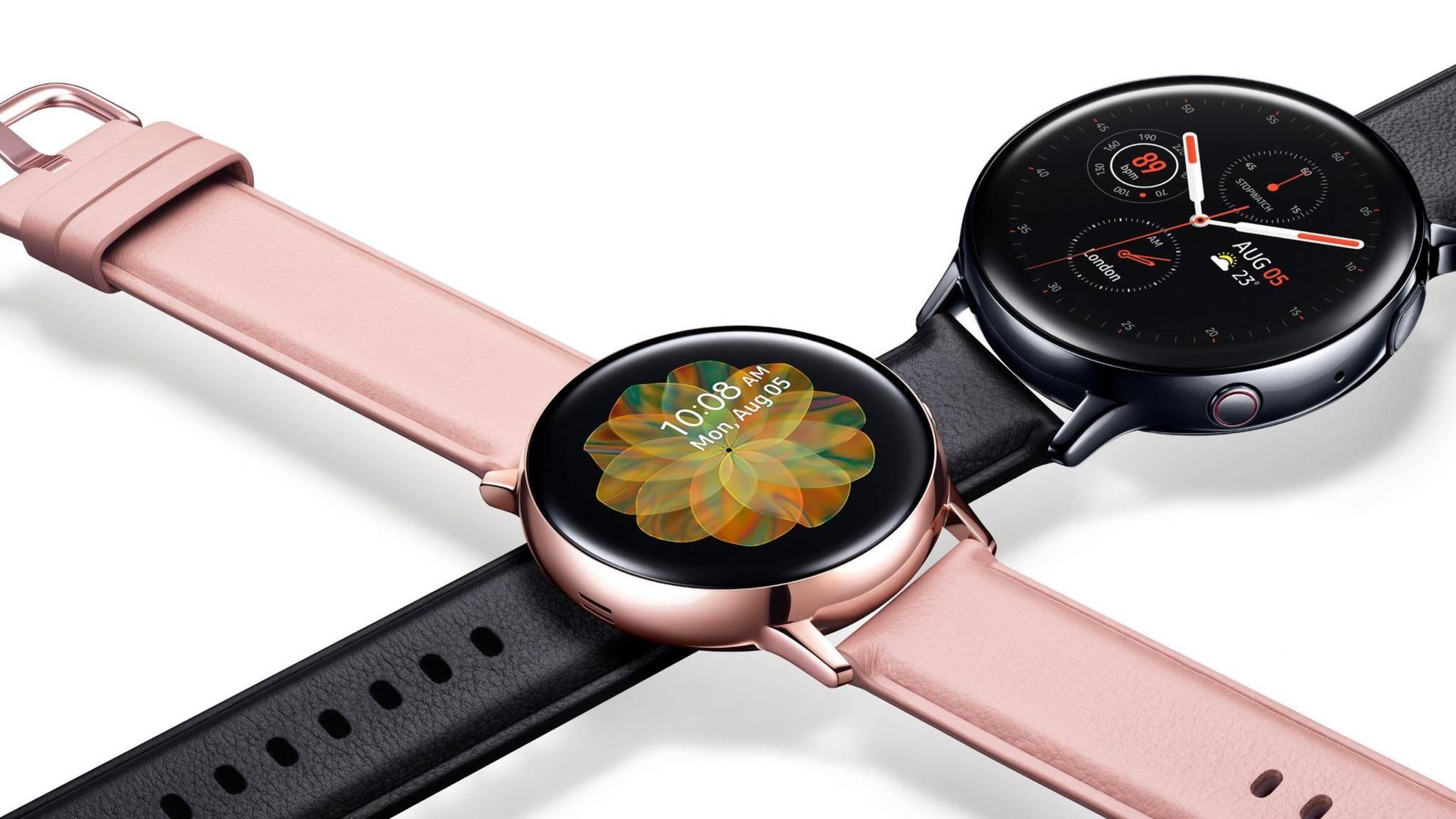 Die Samsung Galaxy Watch Active 2 kommt in zwei Größen.