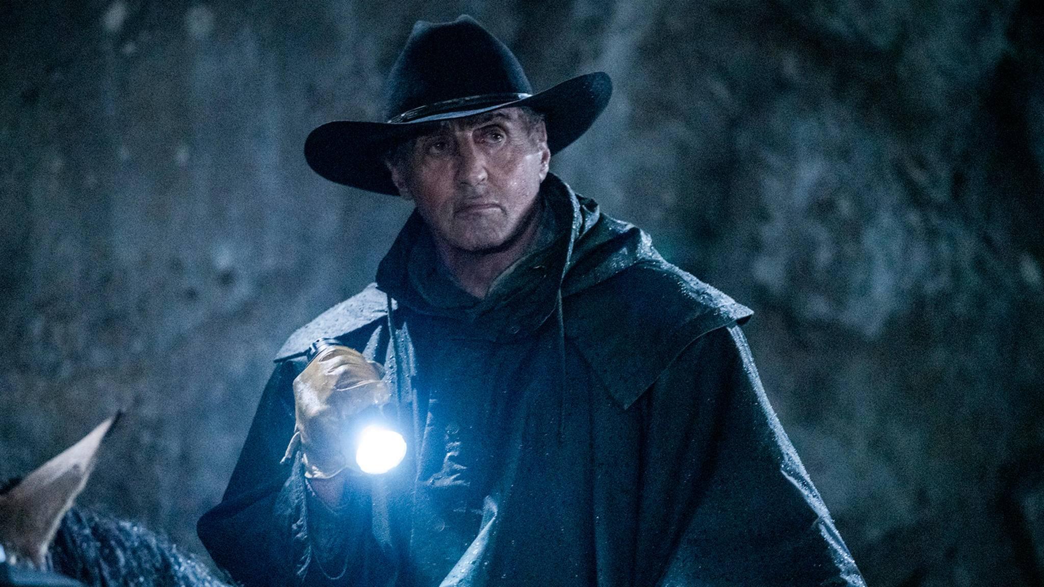 "Sylvester Stallone als John Rambo hoch zu Ross in ""Rambo: Last Blood"""