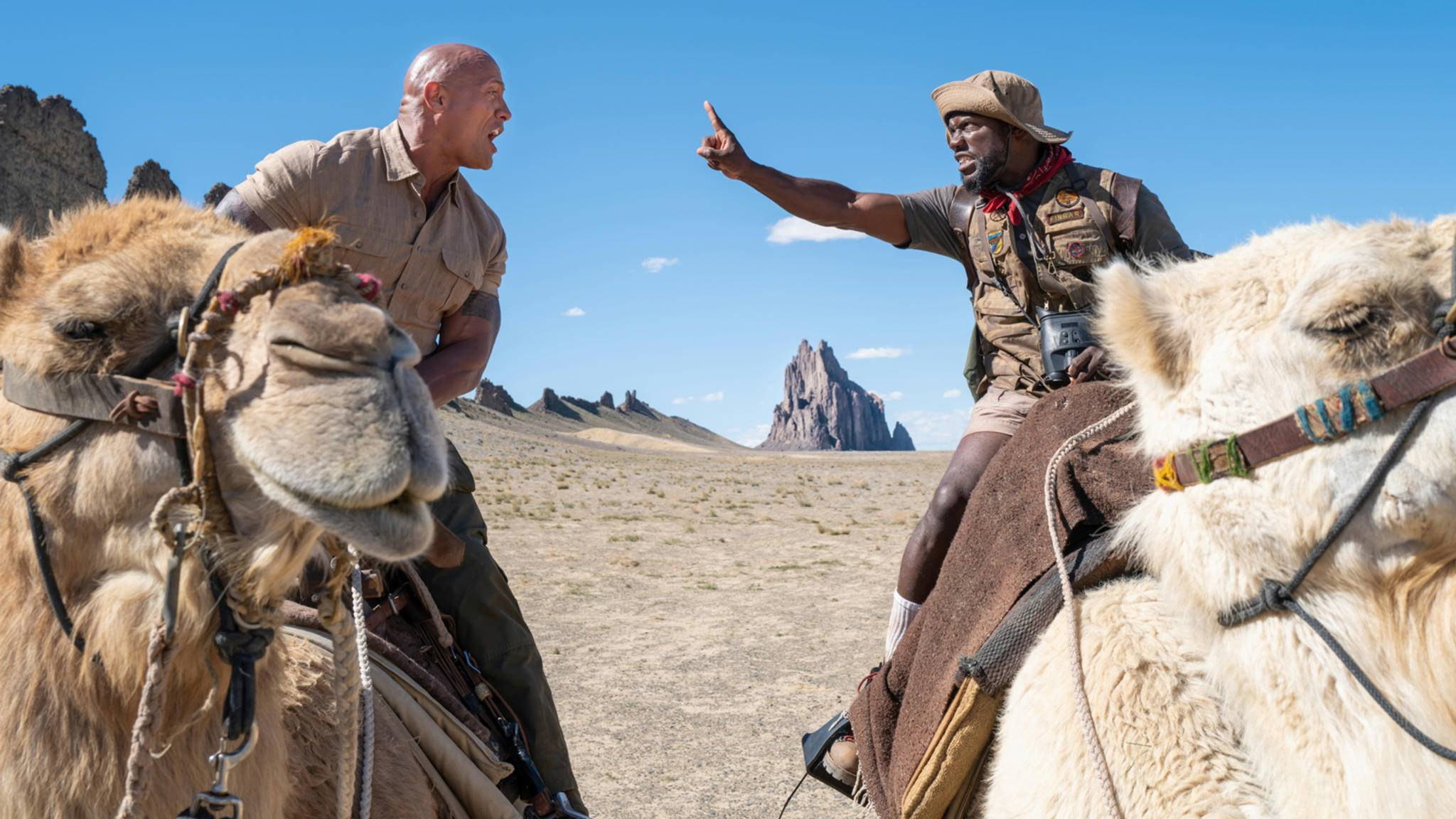 "Dwayne Johnson und Kevin Hart in ""Jumanji: The Next Level"""