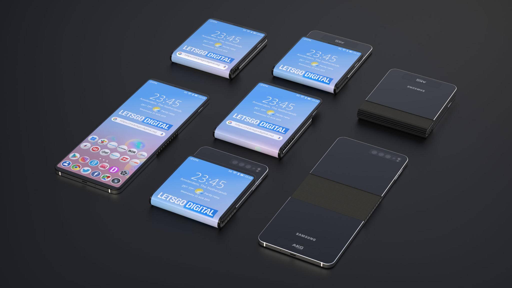 Galaxy Fold 2: Neue Renderbilder zeigen faltbares Klapp-Smartphone
