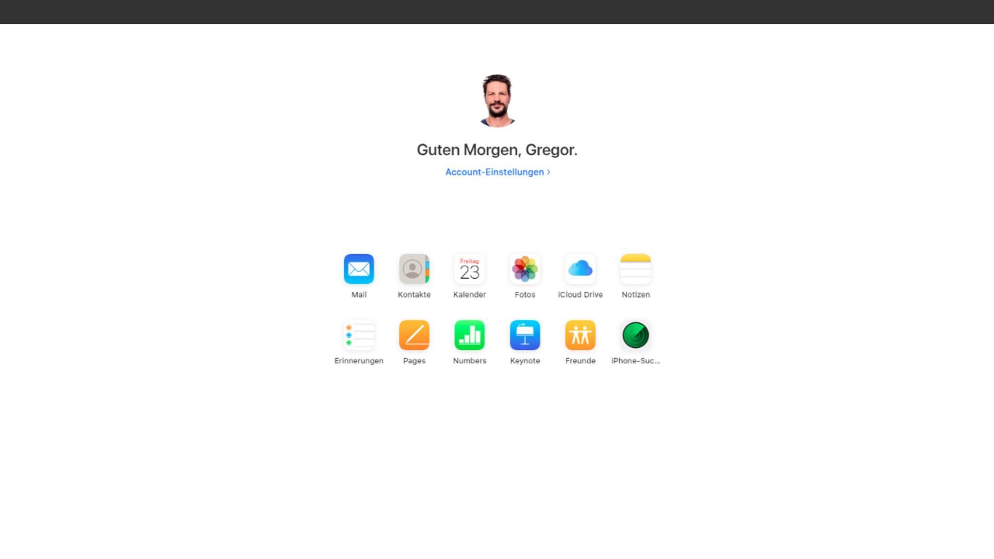 iCloud Webseite neu