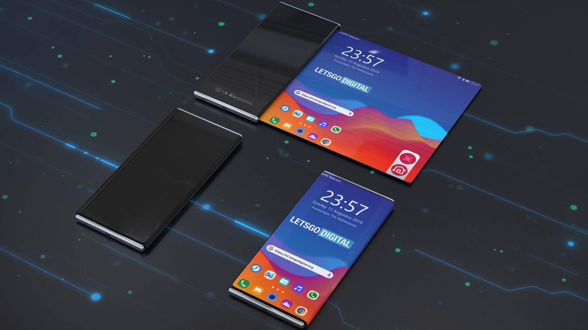 LG rollbares Smartphone