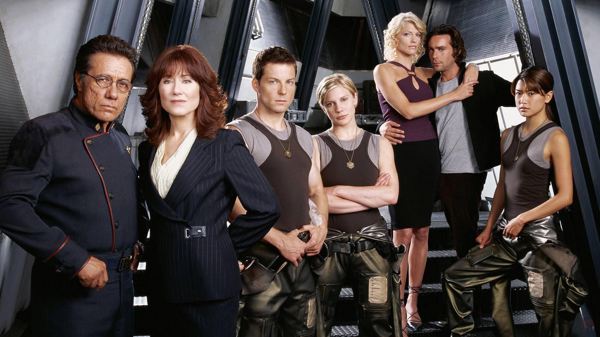 """Szenenbild aus Staffel 1 von """"Battlestar Galactica"""""""