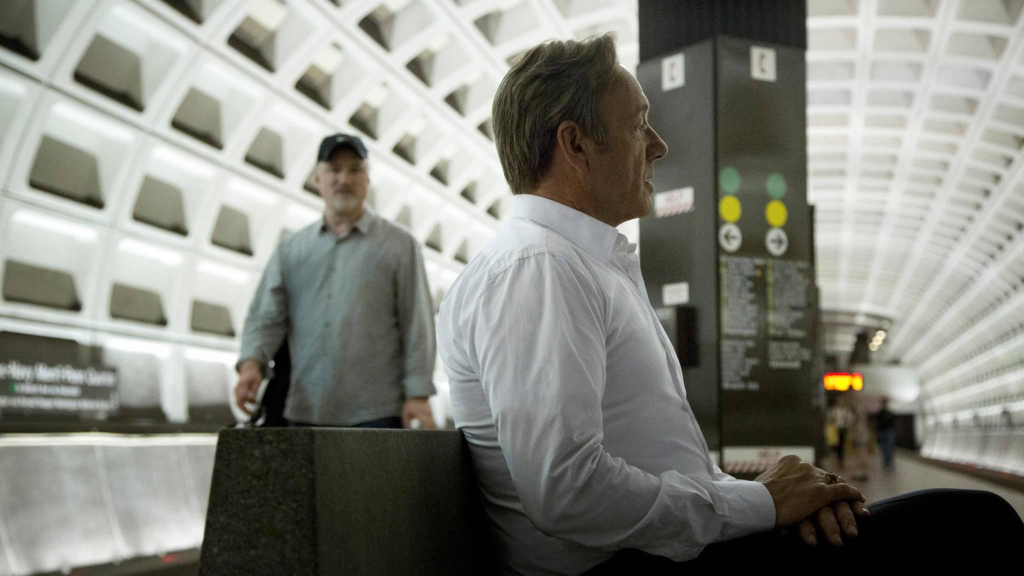 David Fincher und Kevin Spacey am Set der Netflix-Serie House of Cards
