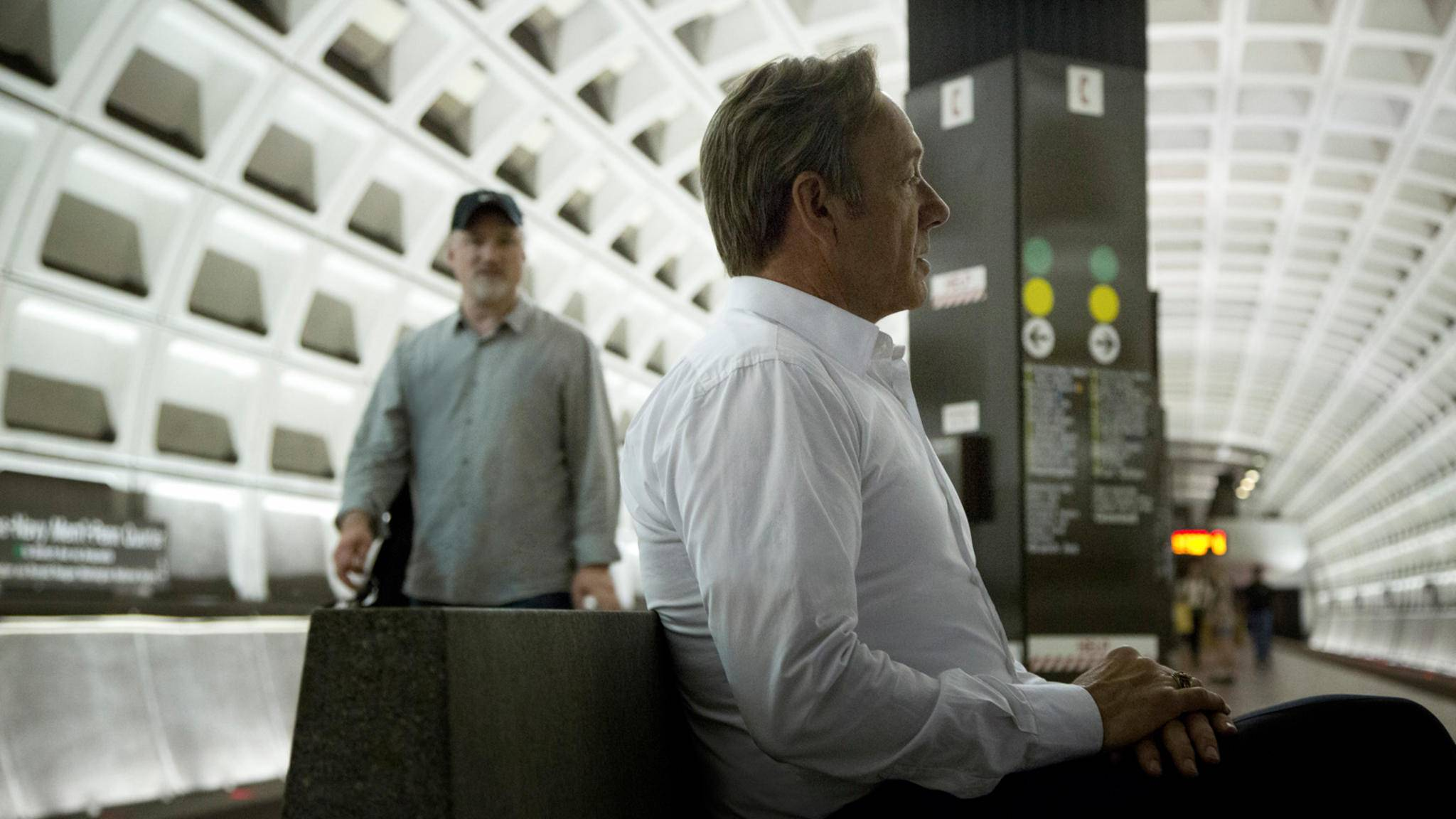 David Fincher und Kevin Spacey am Set der Netflix-Serie House of Cards