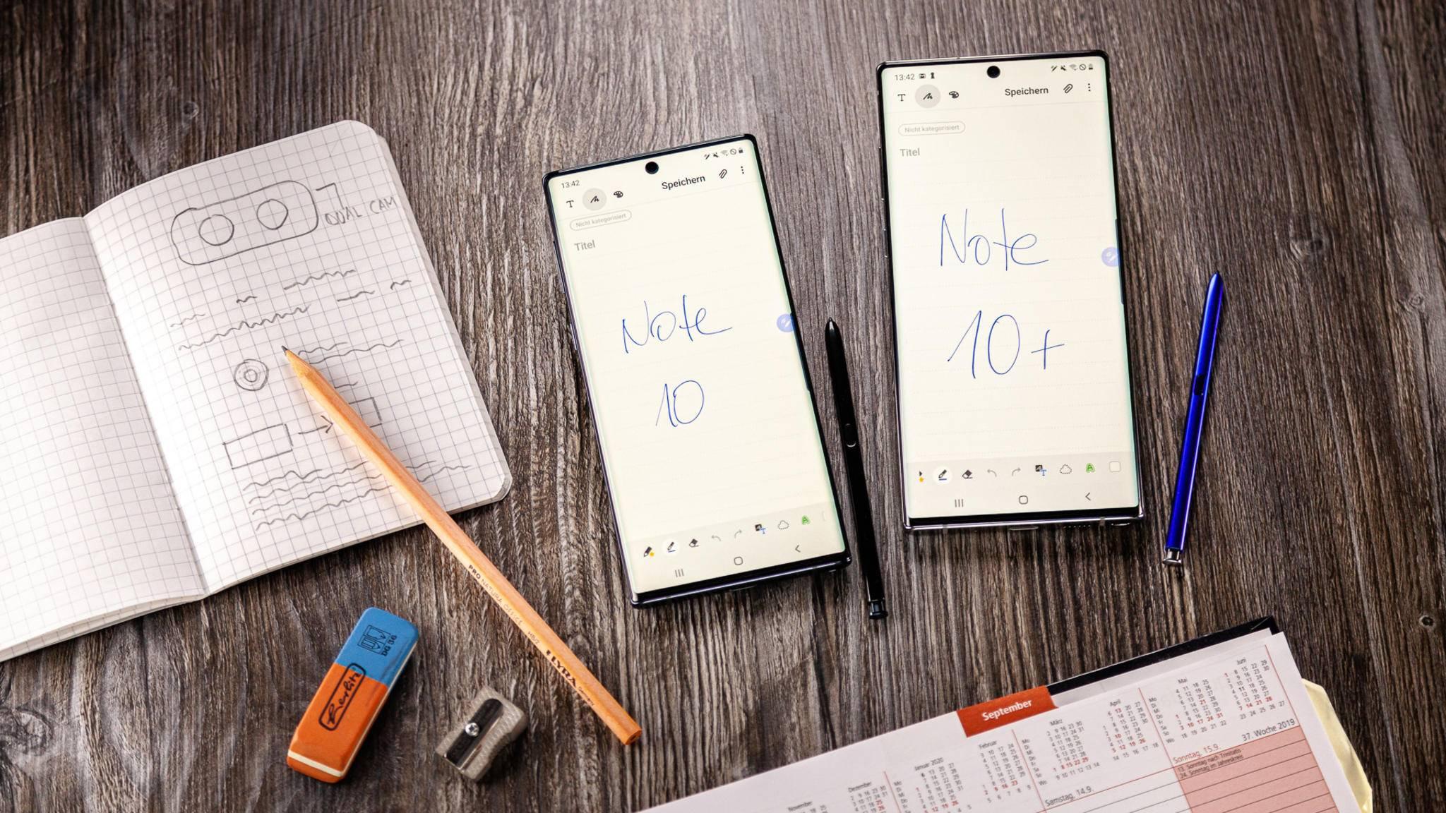 Galaxy Note 10 und 10 Plus im Vergleich