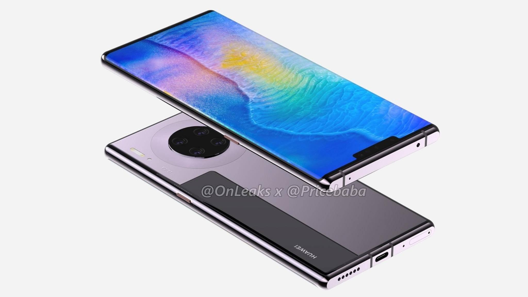 Huawei Mate 30 Pro mit Wasserfall-Display
