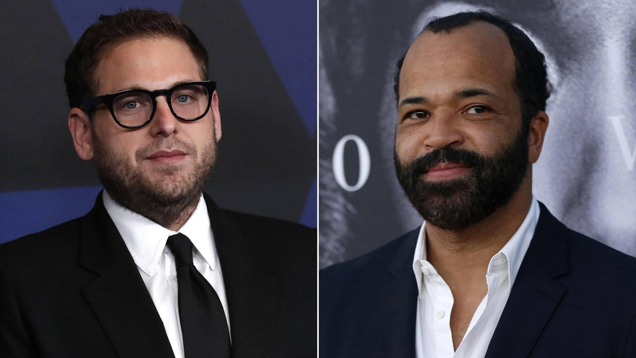 """Jonah Hill (links) und Jeffrey Wright (rechts) sind für Rollen in """"The Batman"""" im Gespräch"""