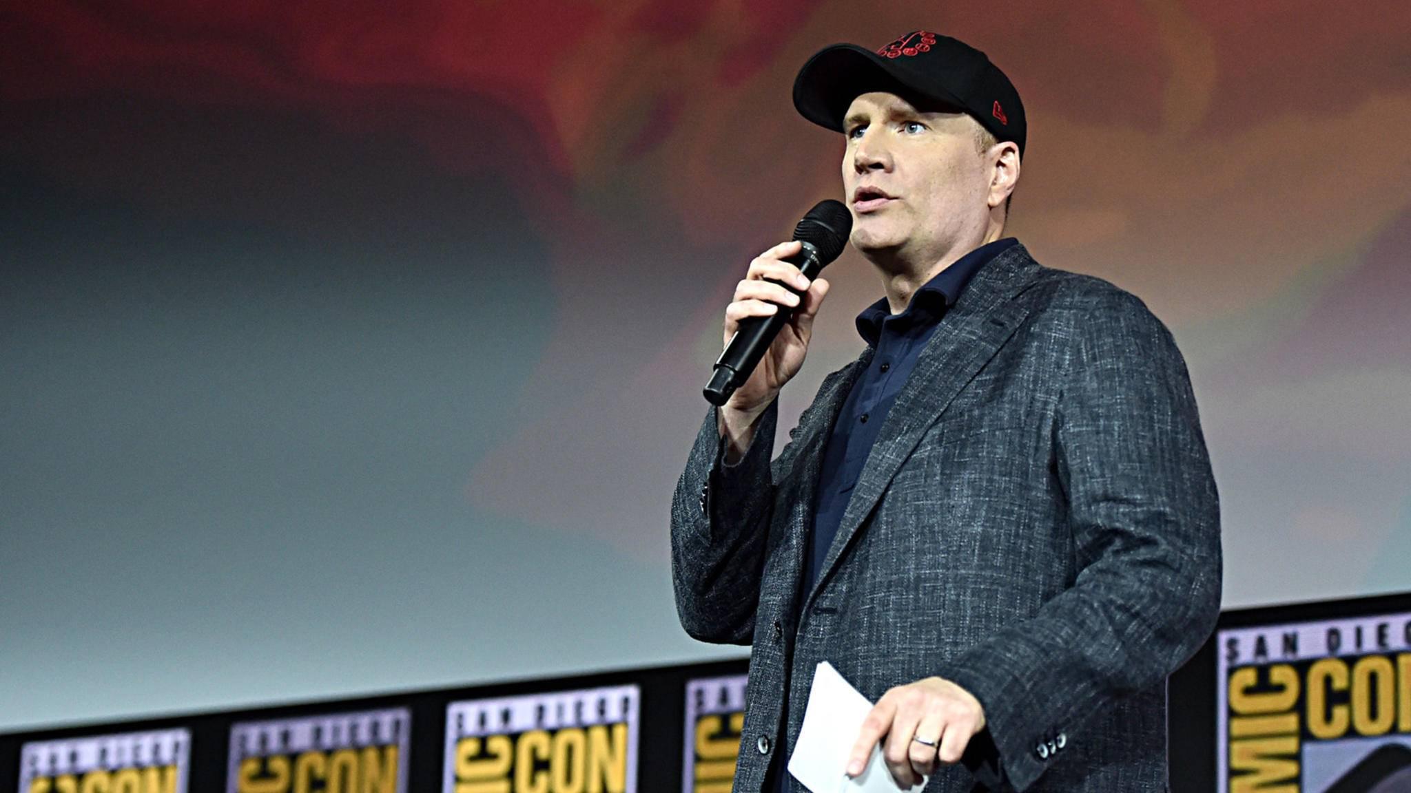 Marvel-Studios-Präsident Kevin Feige beim Marvel-Panel auf der Comic-Con 2019 in San Diego