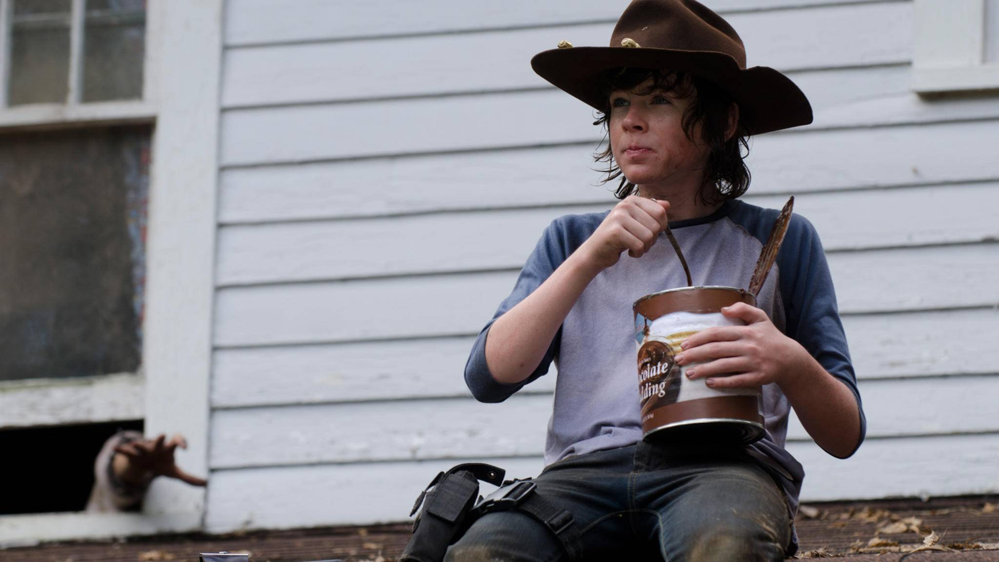 The Walking Dead-S04E09-Carl Grimes-Chandler Riggs-Gene Page-AMC
