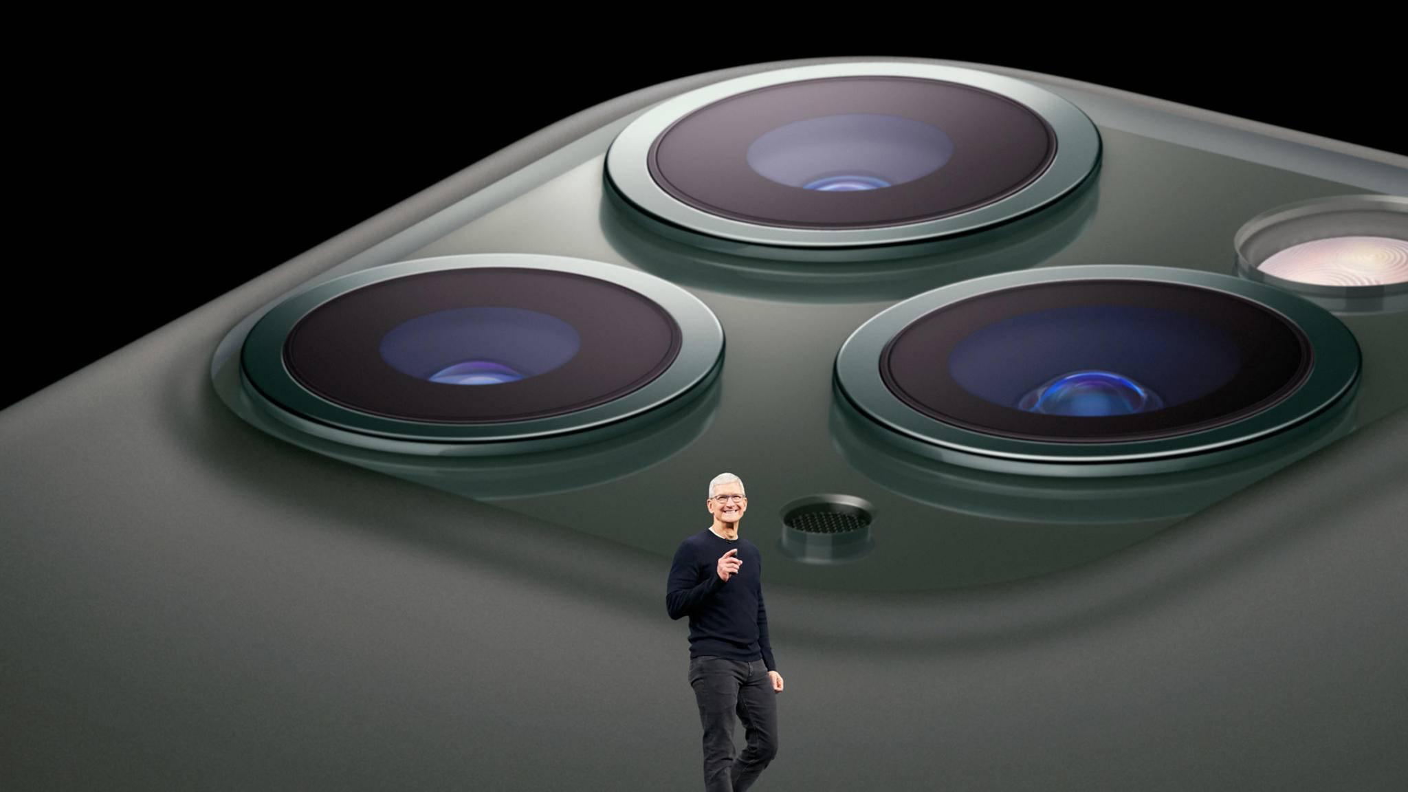 Das Highlight der Keynote: Tim Cook stellt das iPhone 11 Pro vor.