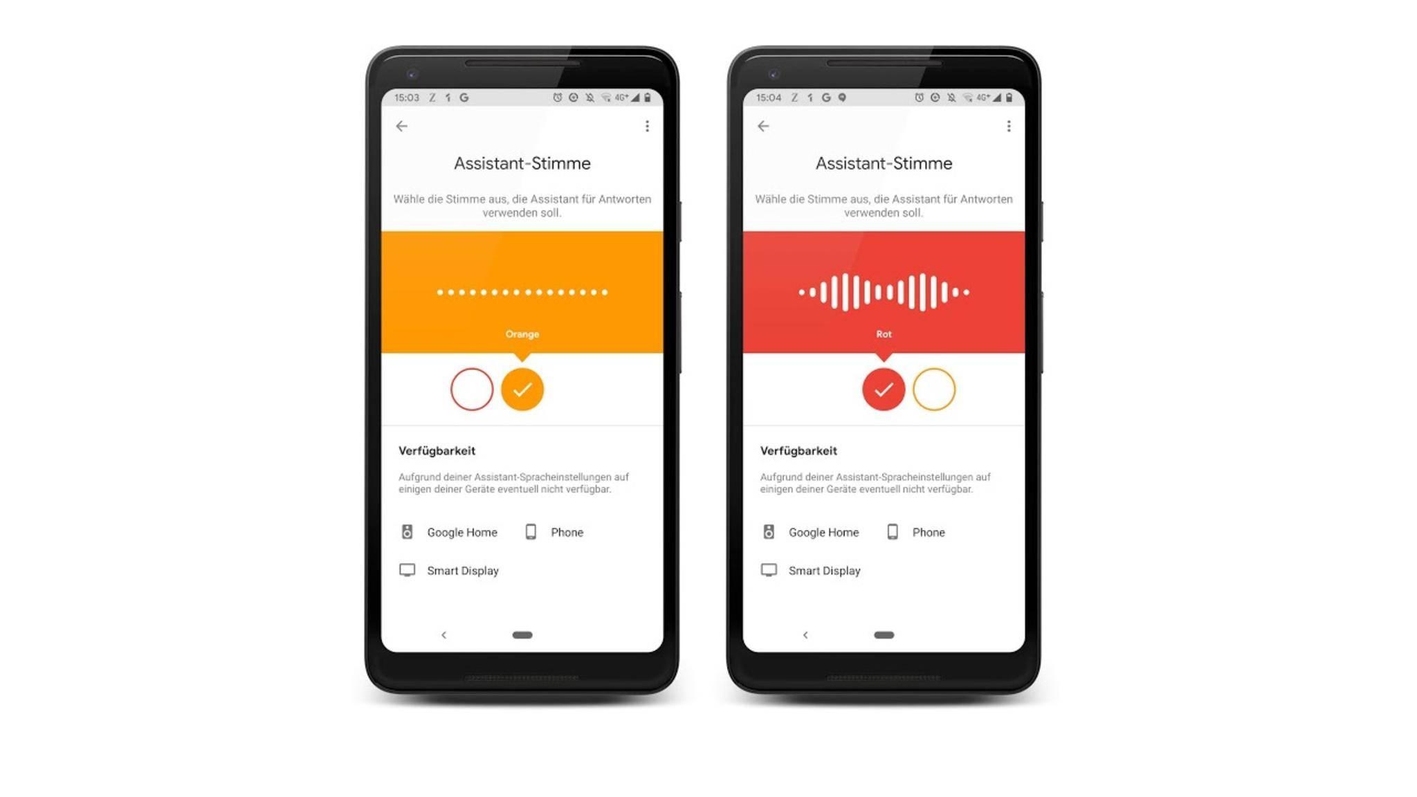 Google Assistant auf Smartphone