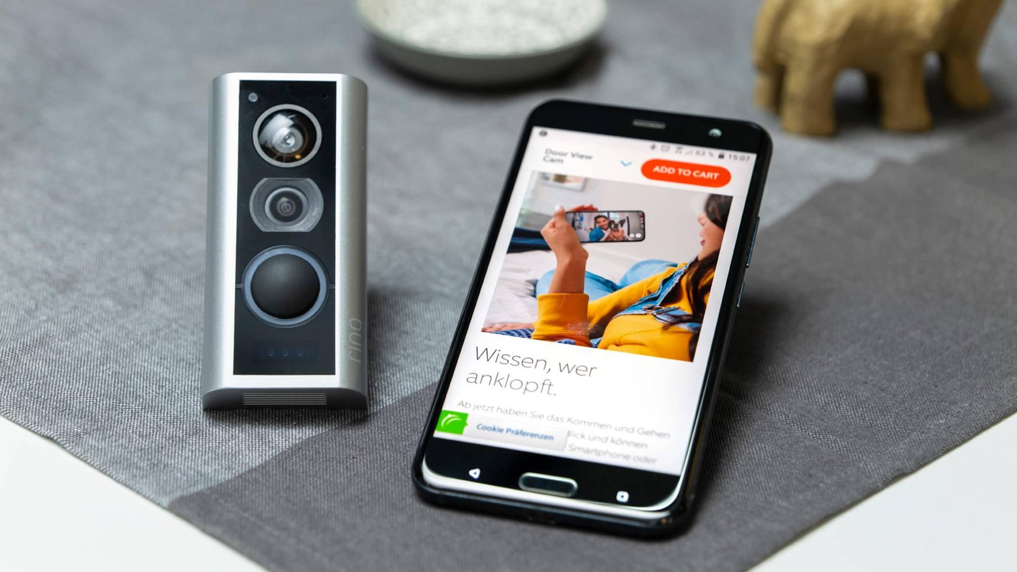 ring door view cam smartphone