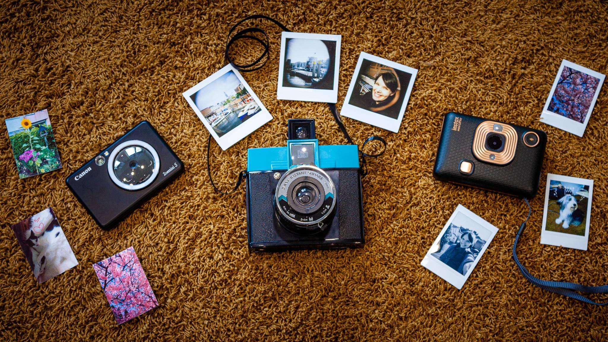 Sofortbildkameras Canon, Fujifilm, Lomography