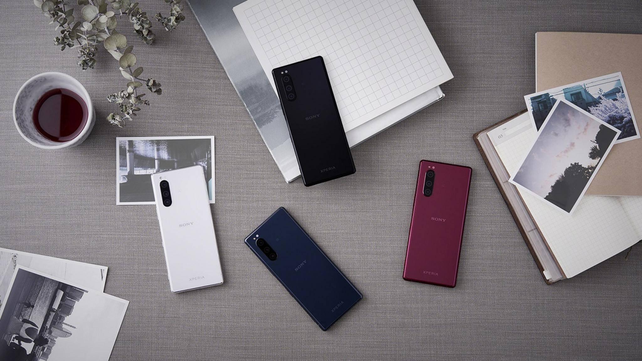 Sony Xperia 5 in vier Farben