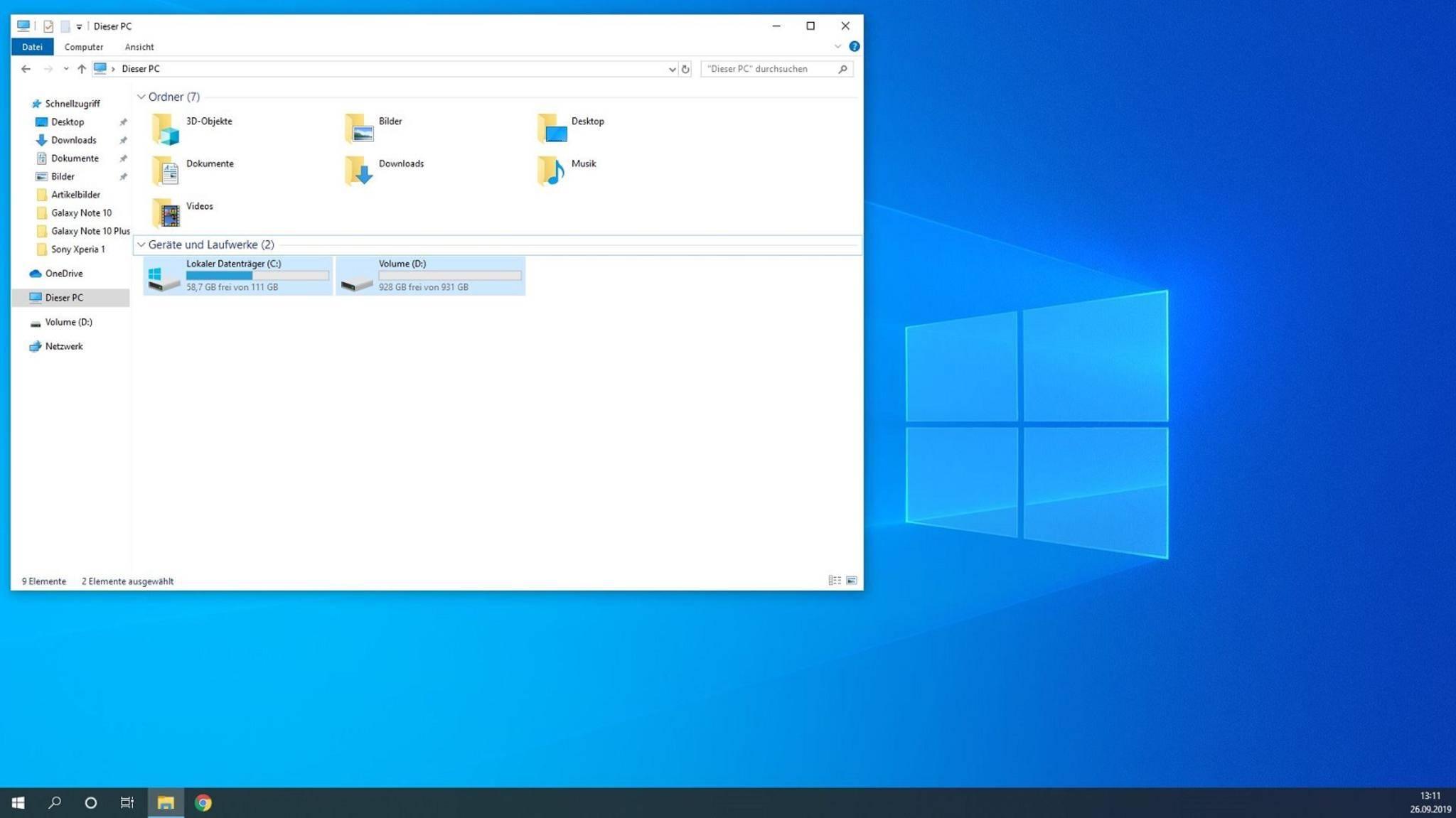 Windows 10 Explorer Ordner