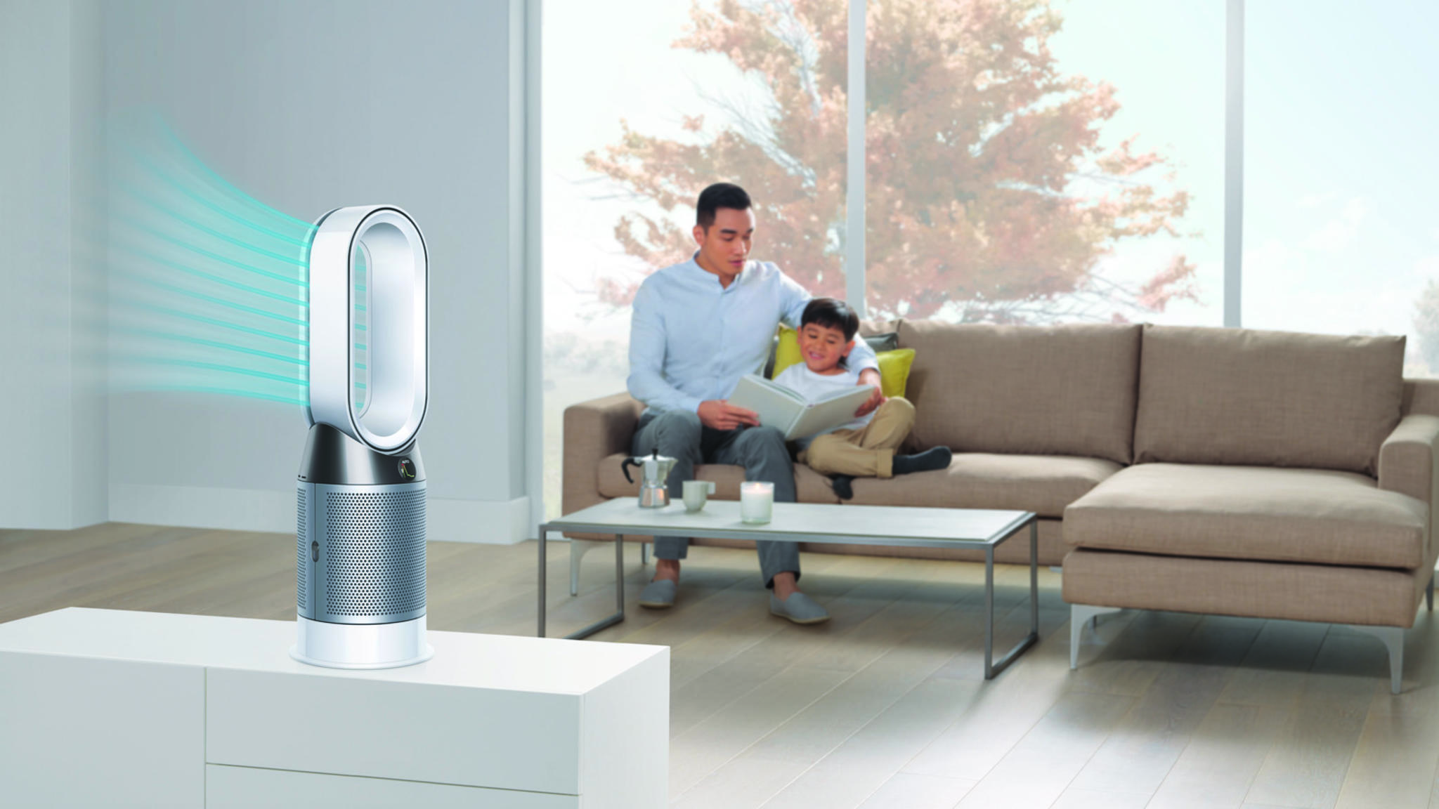 Luftreiniger wie das Modell von Dyson sorgen für saubere und gesunde Luft in Deinem Zuhause.