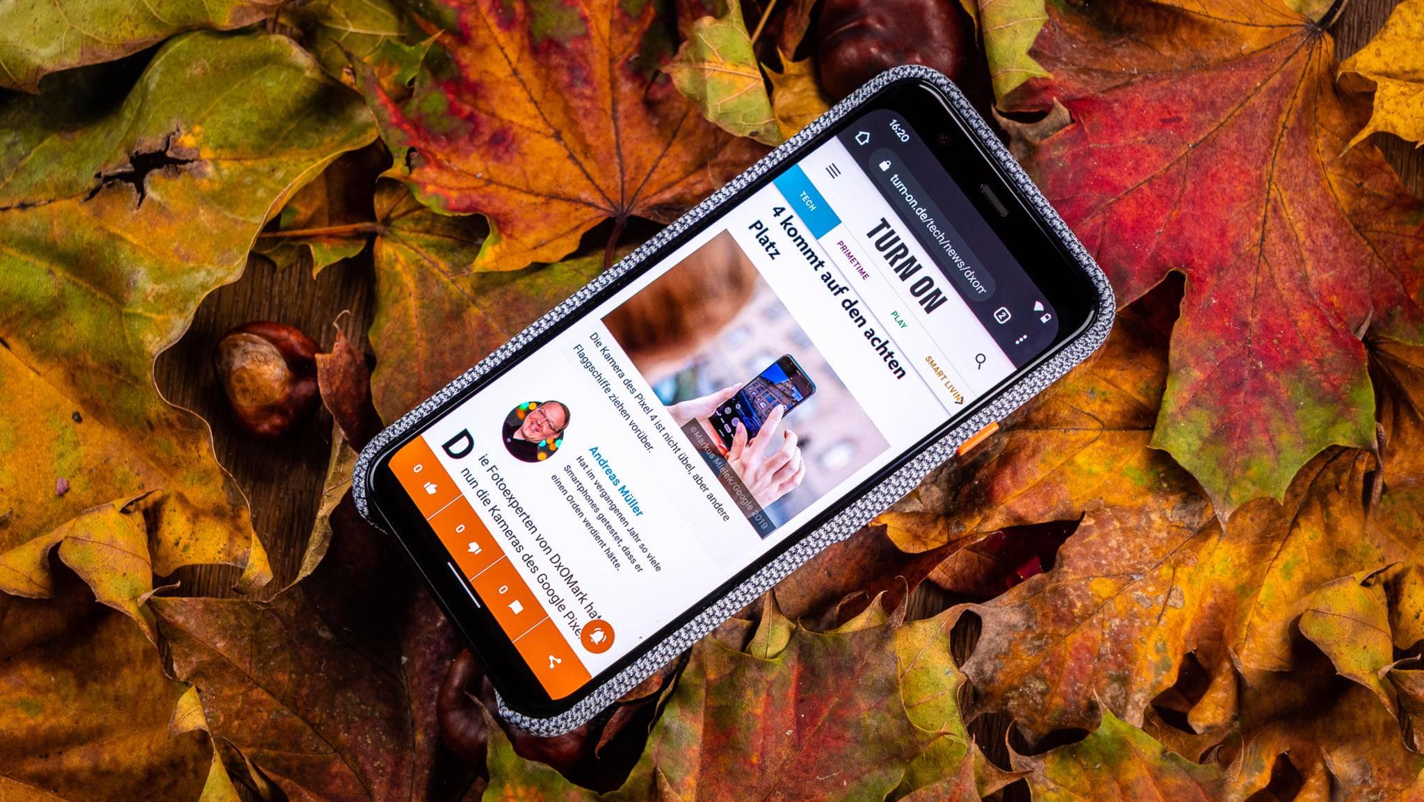 Nutzer von Smartphones mit Android 10 (im Foto: Pixel 4) haben derzeit mit einfrierenden Nutzeroberflächen zu kämpfen.