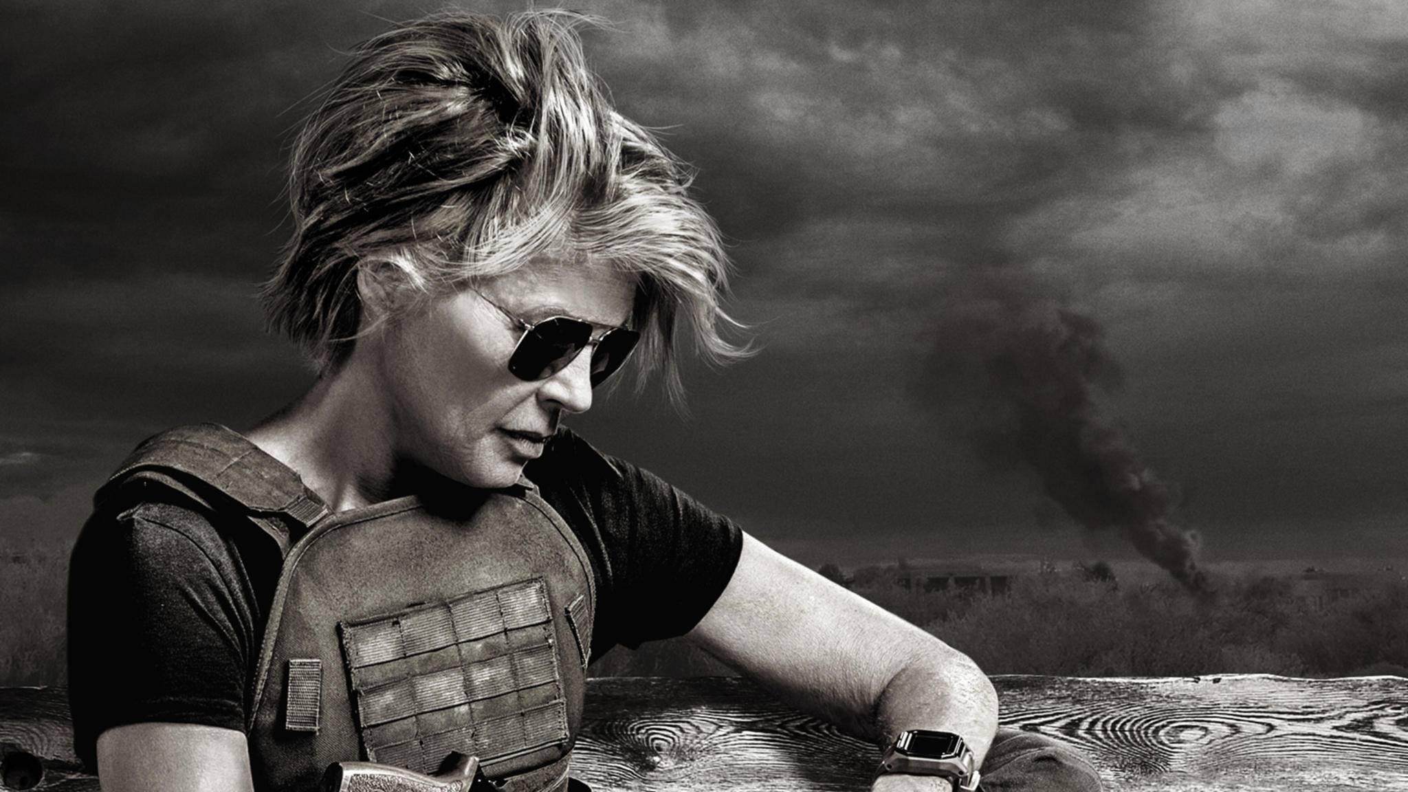 Sarah Connor als Sondermotiv zu Terminator: Dark Fate