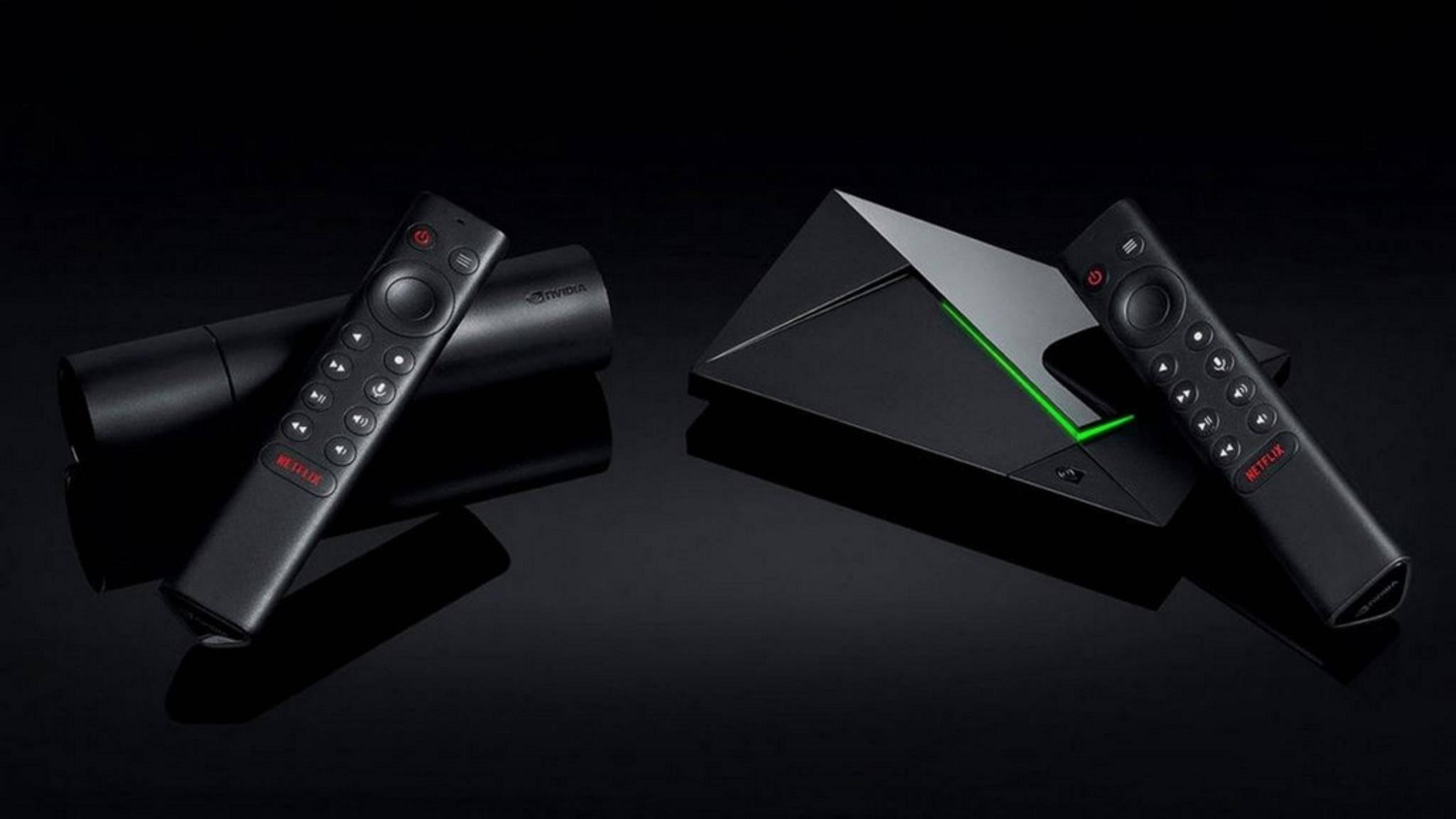 Nvidia Shield TV (2019) und Shield TV Pro.