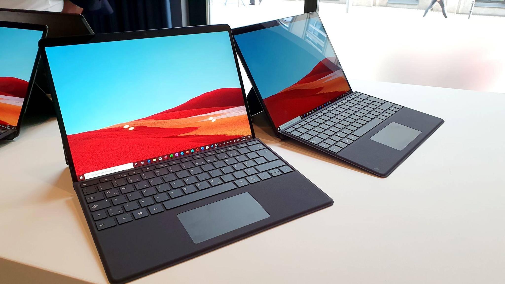 Das neue Surface Pro 8 könnte optisch an das Surface Pro X (im Bild) erinnern.