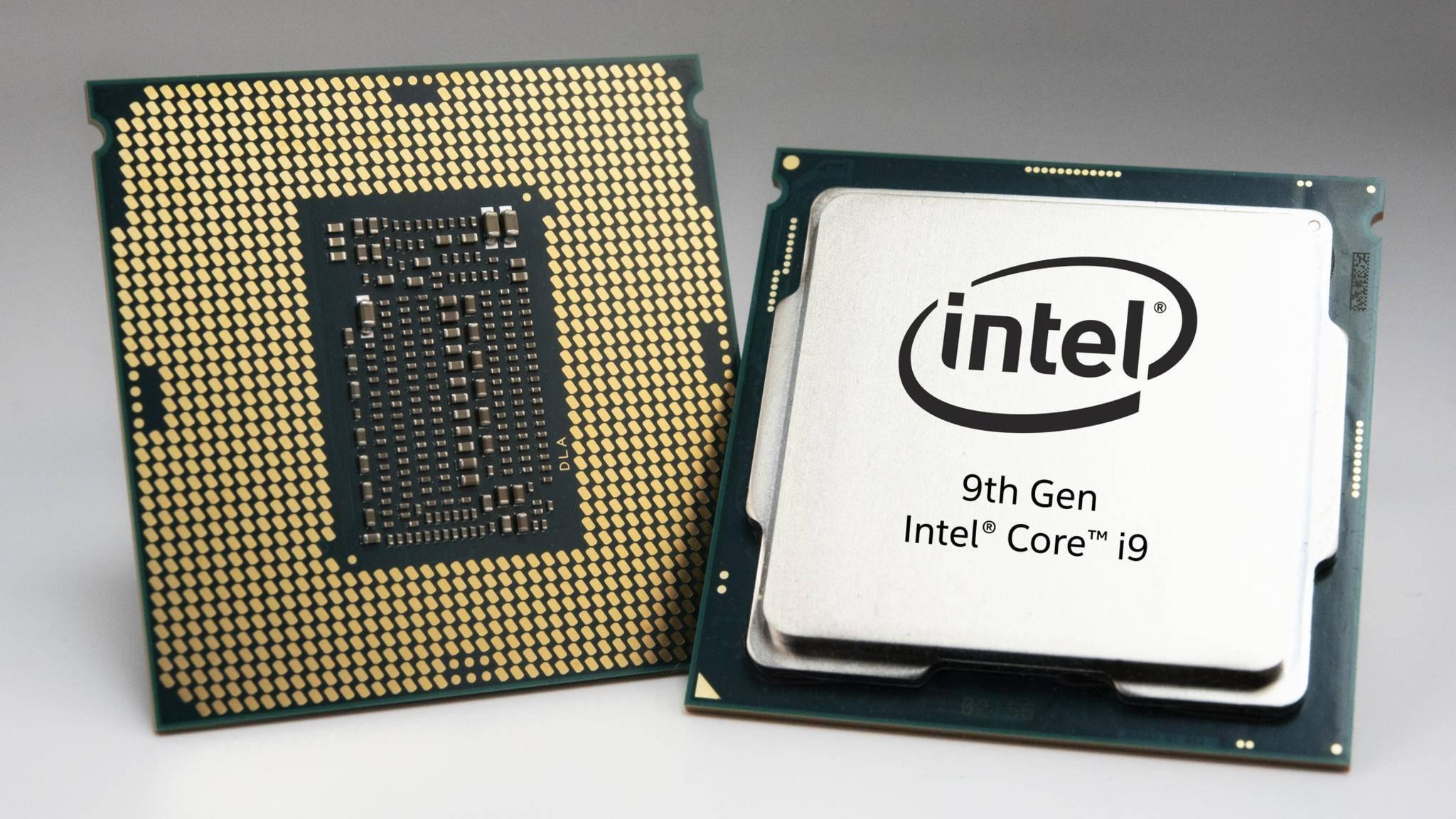 Die 10. Generation der Core-i9-Prozessoren verfügt über den neuen Velocity-Boost-Modus. (Im Bild: Intel-Core-i9-CPU der 9. Generation)