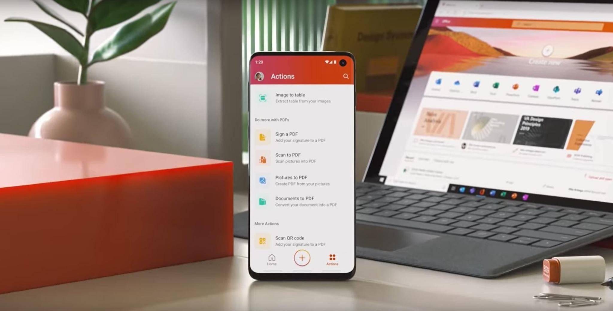 Das neue Office für Smartphones soll Word, Excel und Powepoint bündeln.