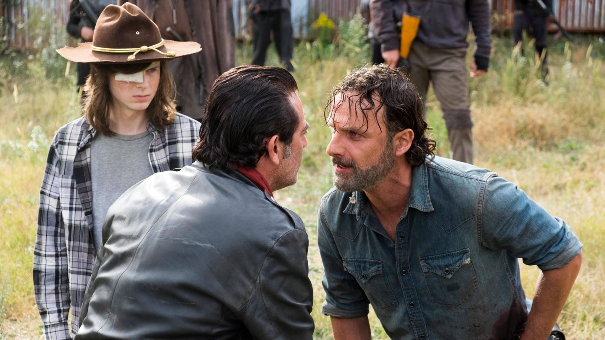 The Walking Dead Rick Negan Carl