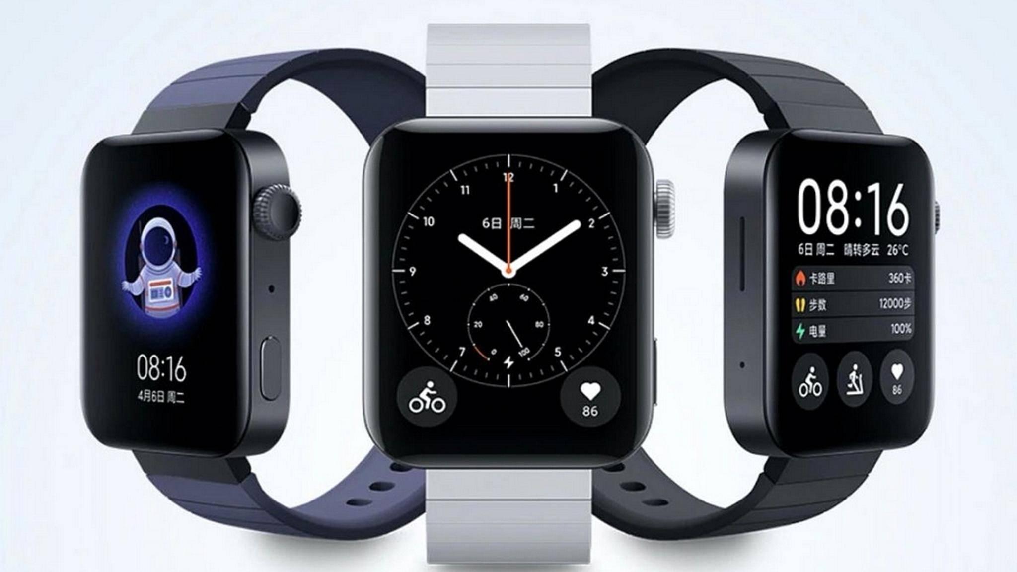 Die Xiaomi Mi Watch kommt mit einem bekannten Design.