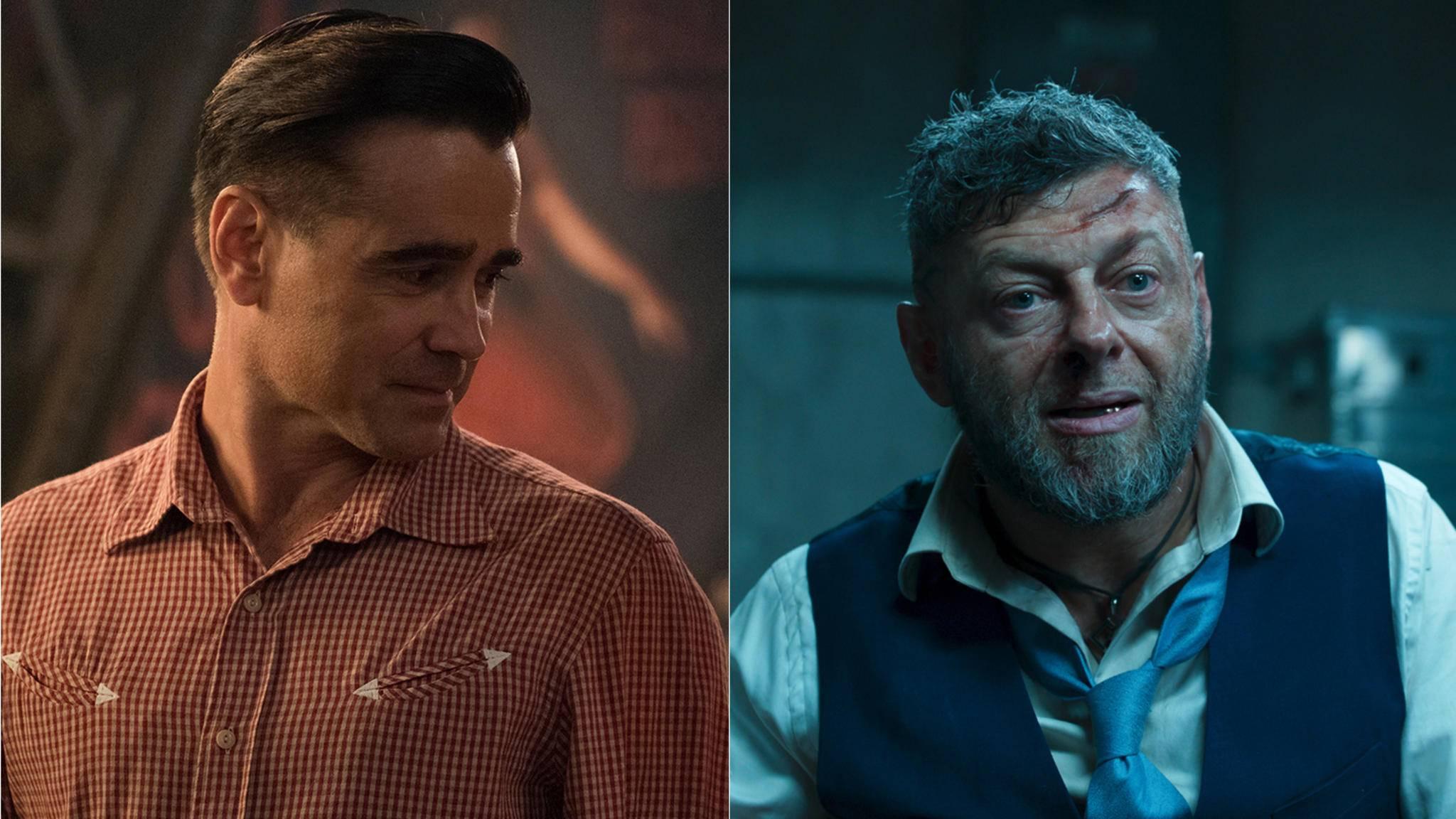 """Colin Farrell (links) und Andy Serkis sind für """"The Batman"""" im Gespräch – sie würden zu Gegenspielern."""