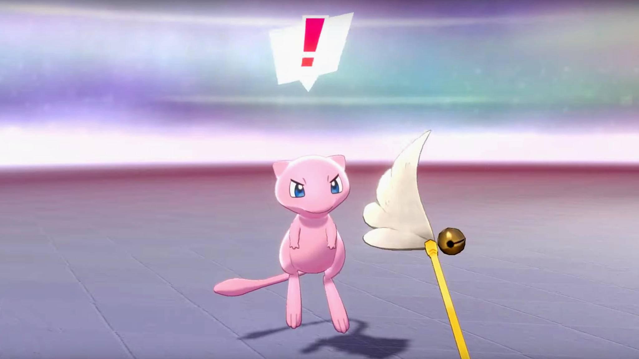 """In """"Pokémon Schwert & Schild"""" kannst Du mit Mew spielen."""