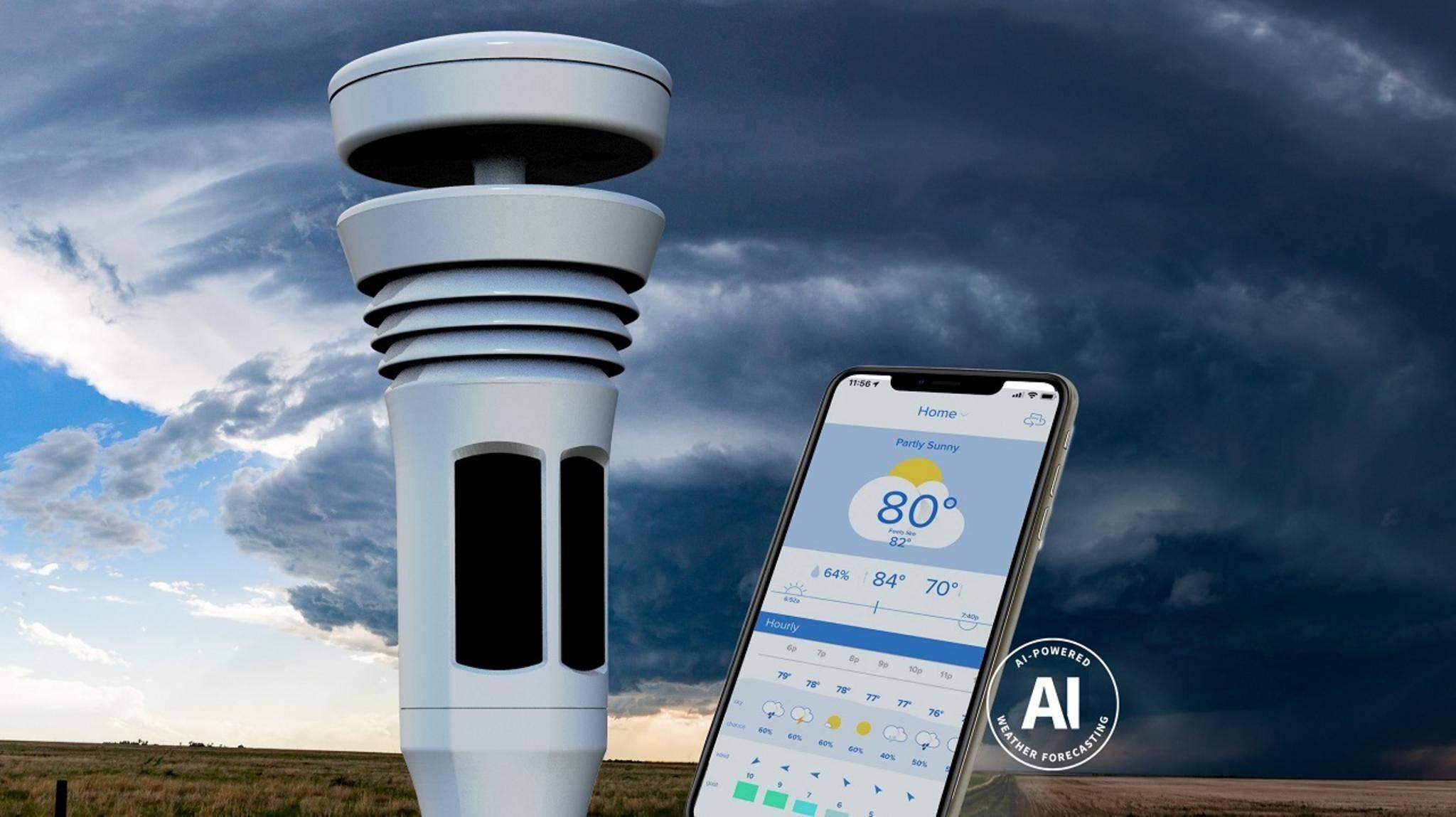 Die Wetterstation Tempest arbeitet mit sechs verschiedenen Sensoren und schickt die gesammelten Daten an die zugehörige App.