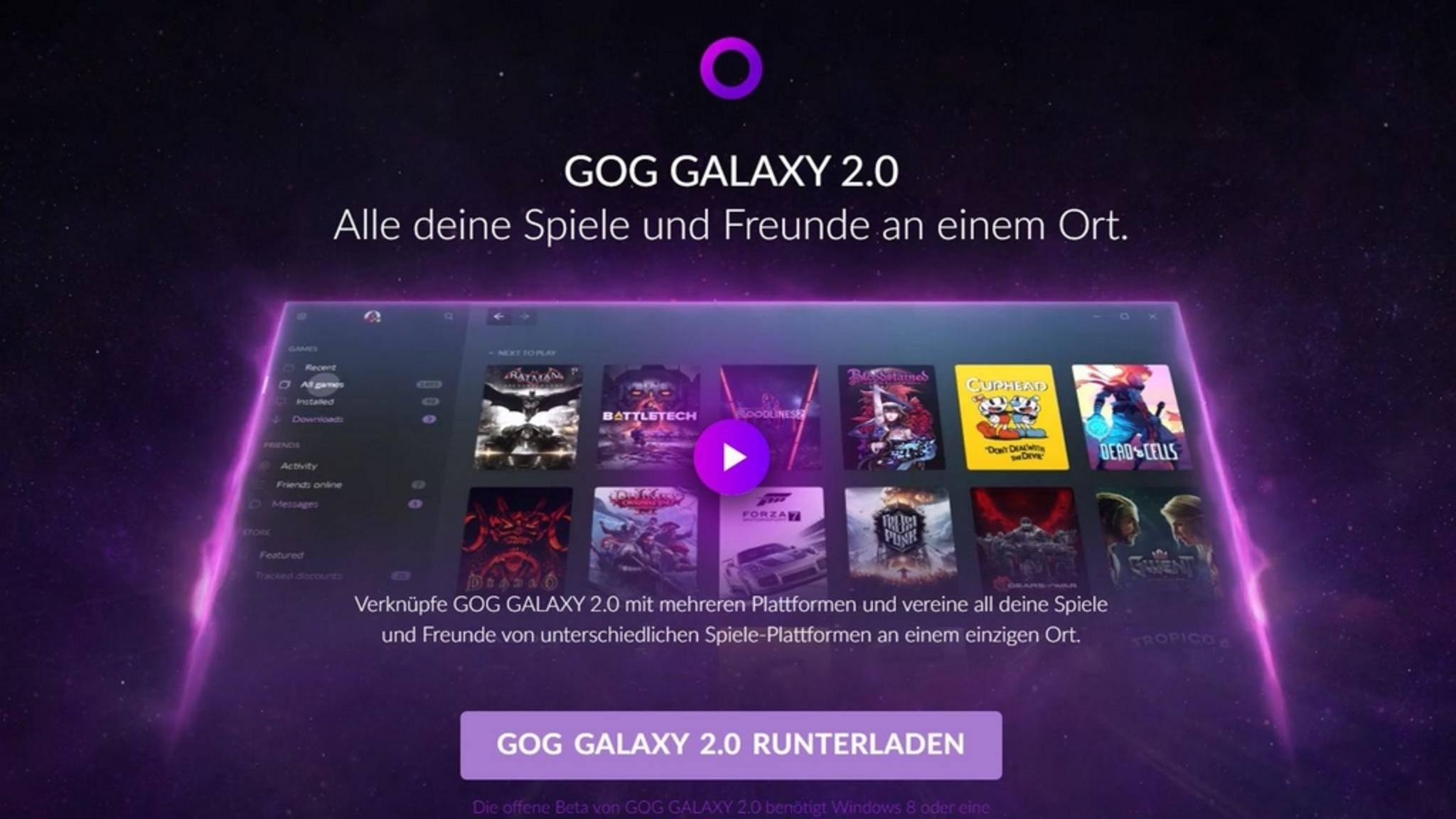 GOG tritt an, alle Spiele-Launcher unter einem Dach zu vereinen.