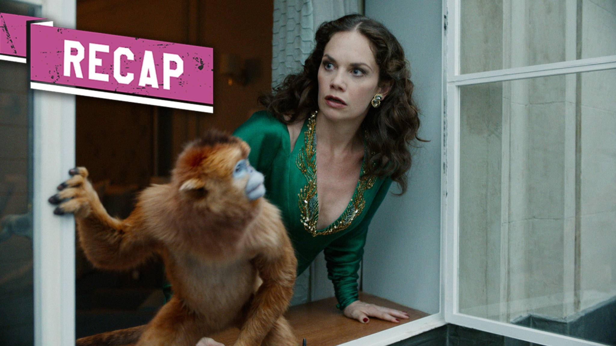 His Dark Materials Ruth Wilson als Marisa Coulter mit ihrem Daemon Recap