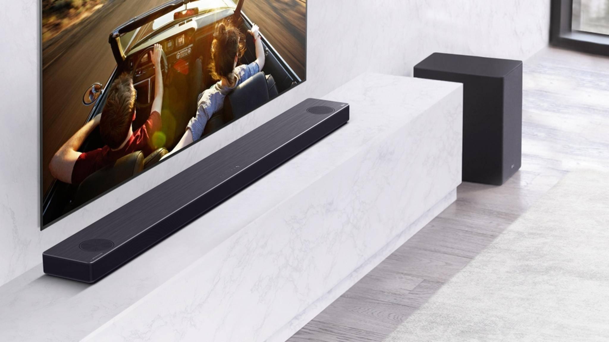 LG zeigt seine neuen Soundbars auf der CES.