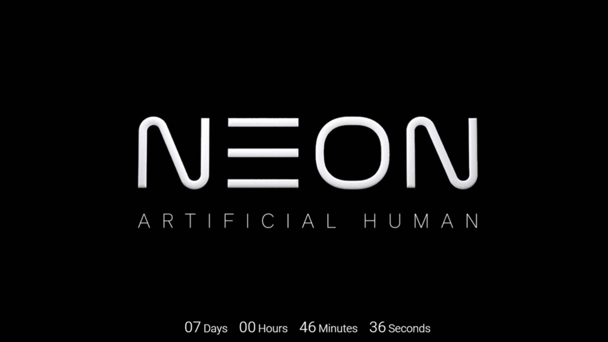 """Neon wird von Samsung als """"Künstlicher Mensch"""" angeteasert."""