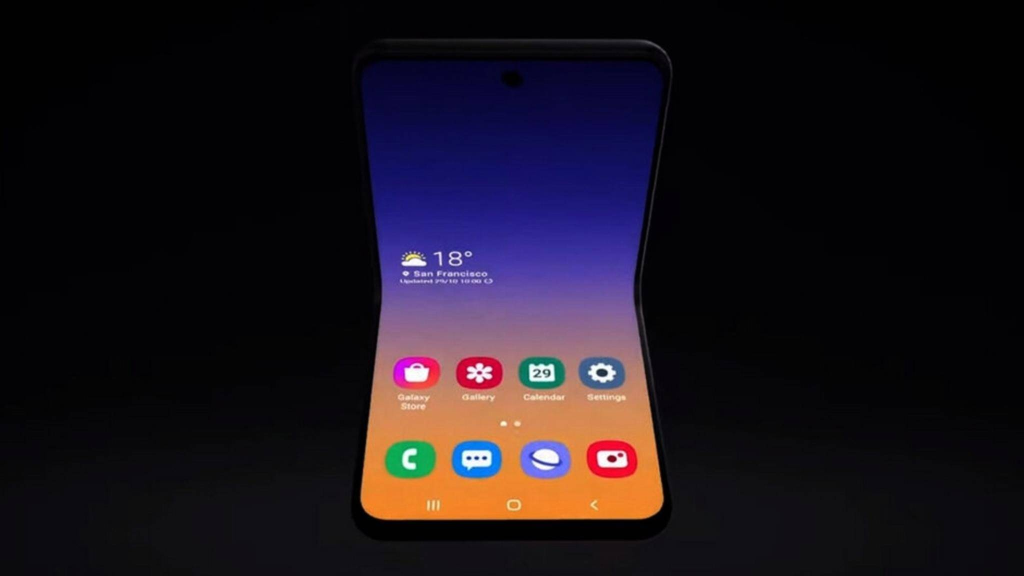 Sieht so das Samsung Galaxy Fold 2 aus?