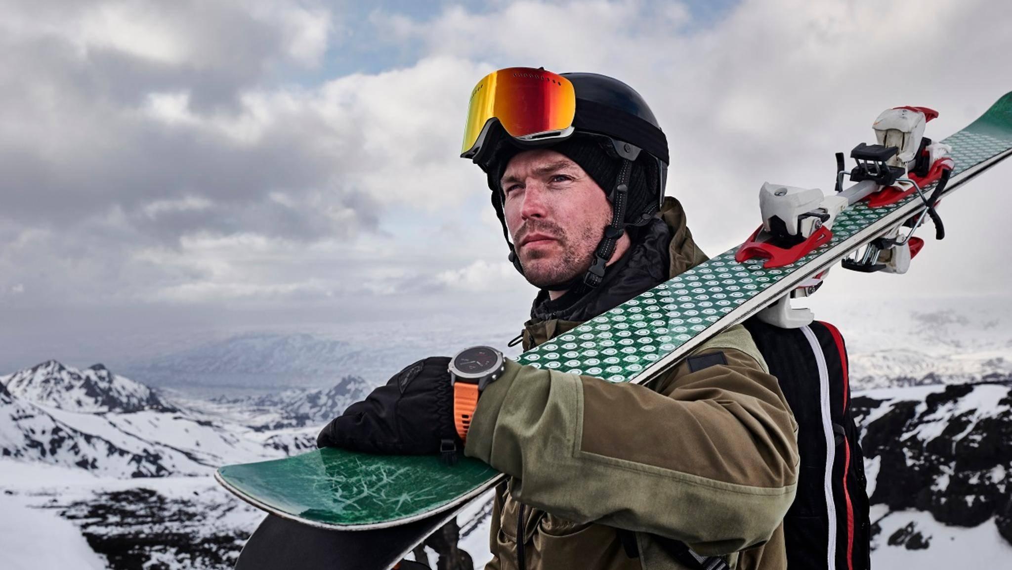 Garmin Fenix 6 GPS-Sportuhr Skifahren
