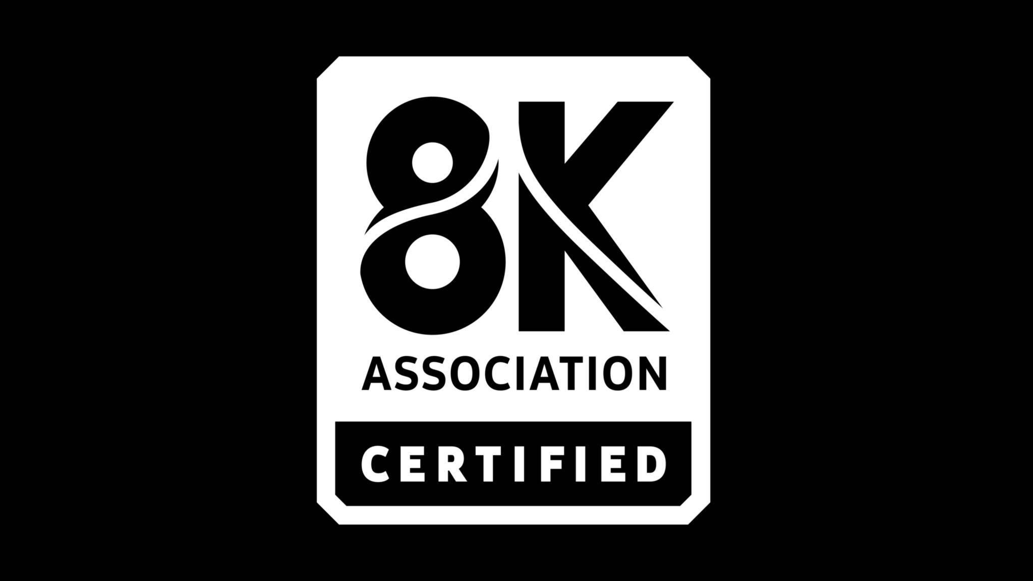 Dieses Logo soll in Zukunft auf zertifizierten 8K-TVs zu finden sein.