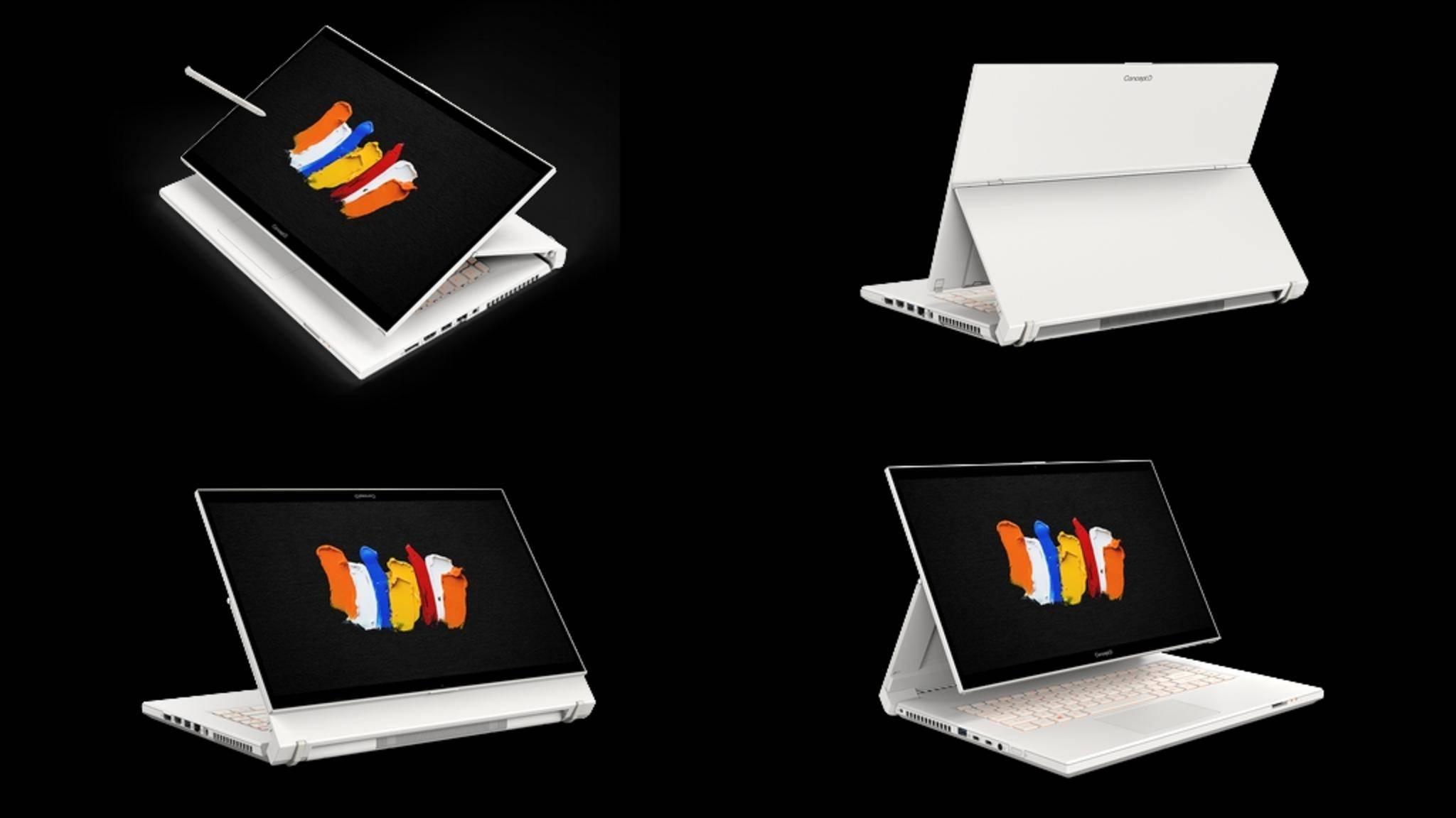 Mit dem Acer ConceptD 7 Ezel versucht der Hersteller mal was Neues.