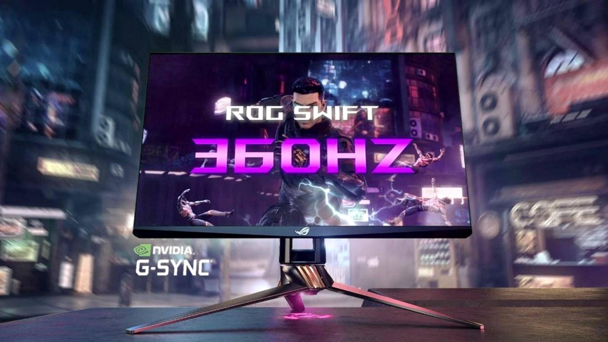 Der Asus ROG Swift 360 ist der erste Monitor mit 360-Hz-Panel.