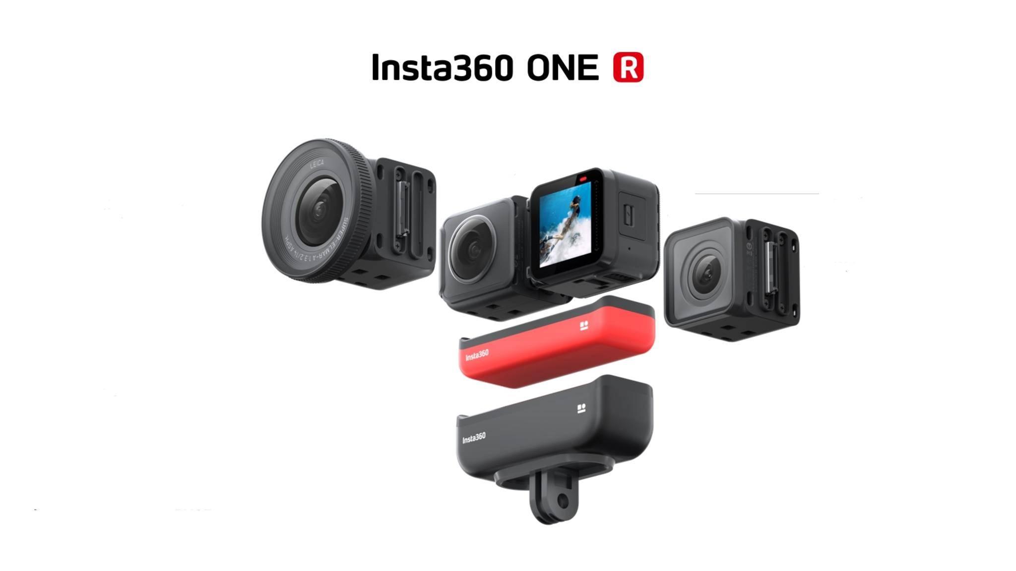 Die Insta360 One R ist eine modulare Mini-Kamera.