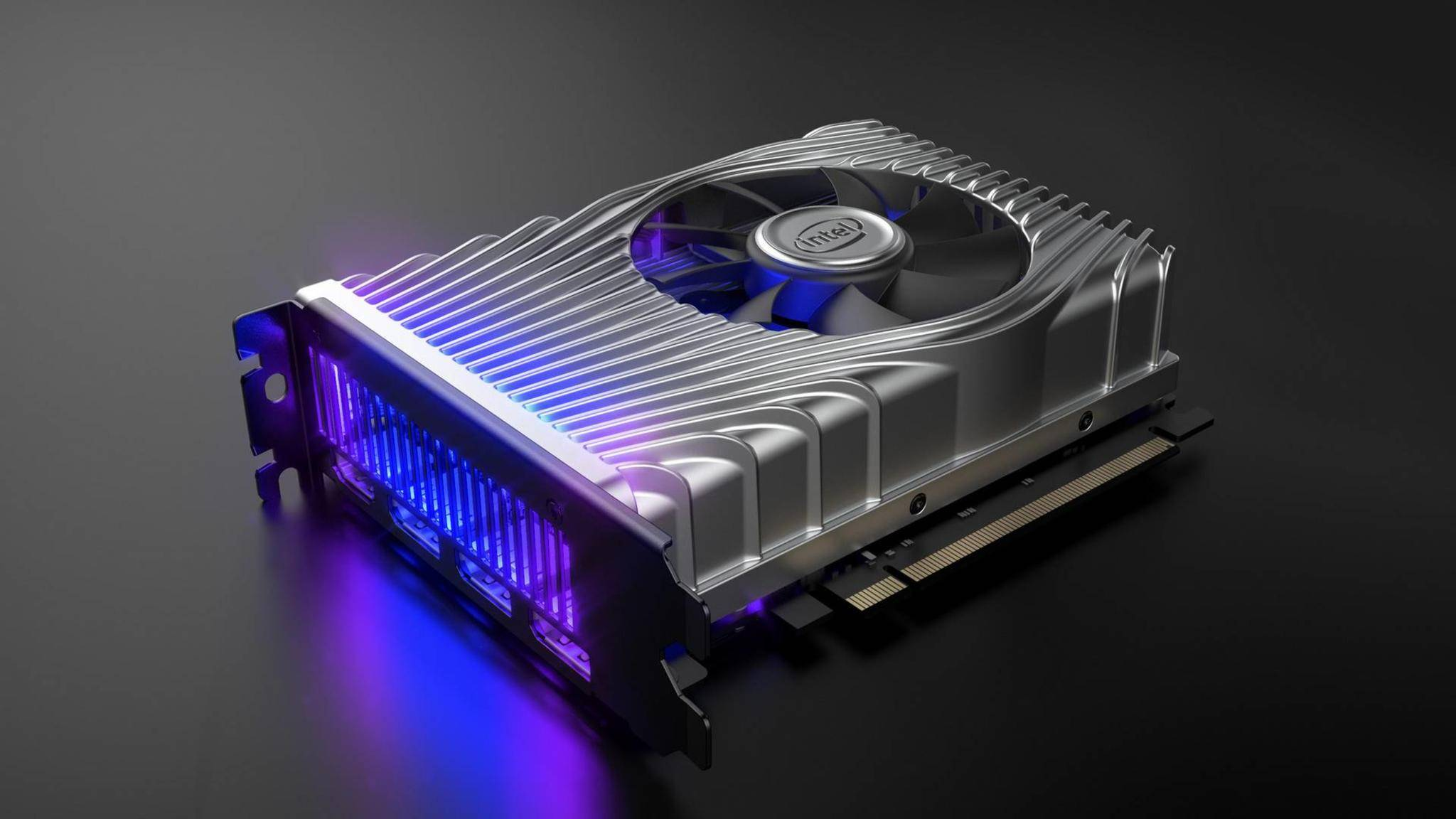 Die Intel DG1 ist eine recht kleine Grafikkarte.
