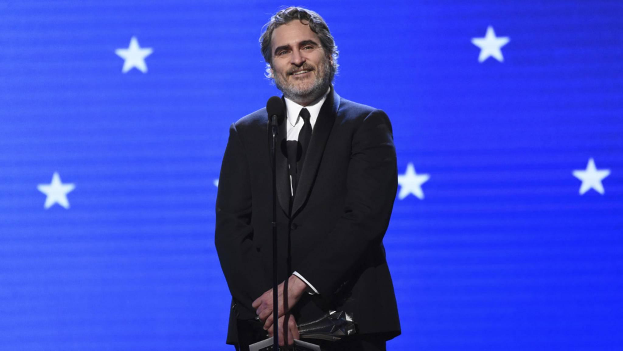 Joaquin Phoenix bei den Critics' Choice Awards 2020